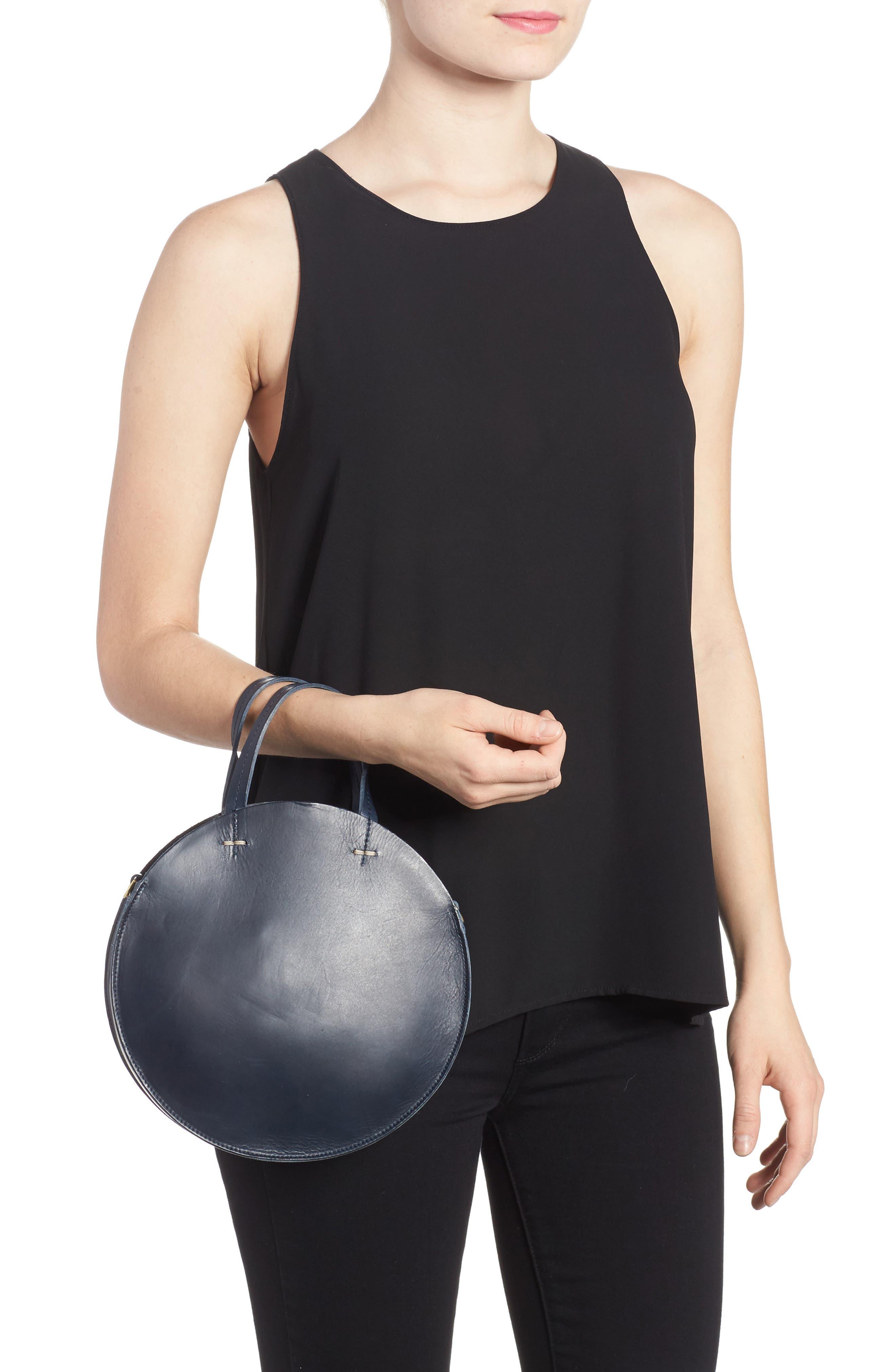Petite Alistair Leather Circular Crossbody Bag,                             Alternate thumbnail 2, color,