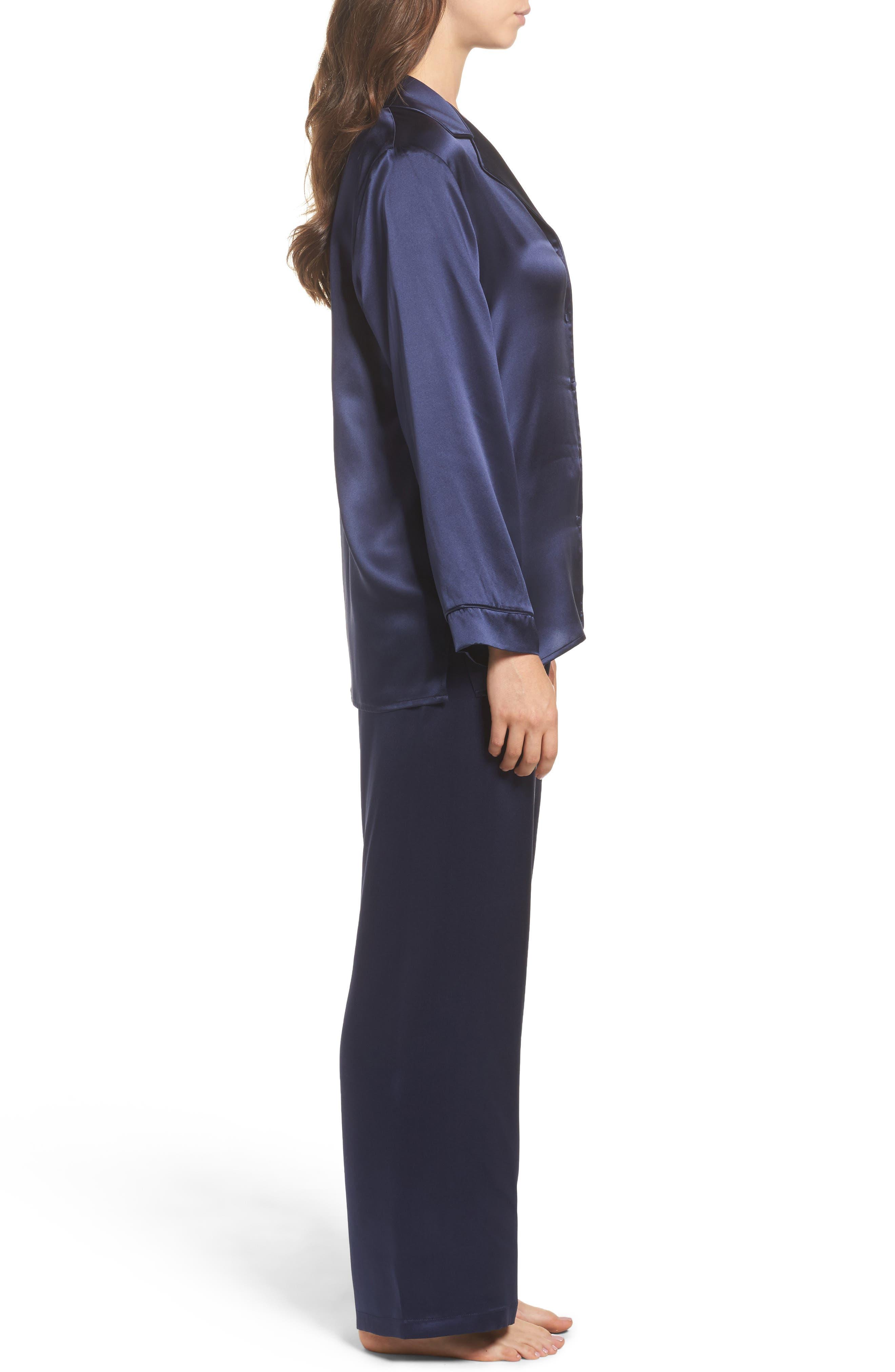 Silk Pajamas,                             Alternate thumbnail 3, color,                             410