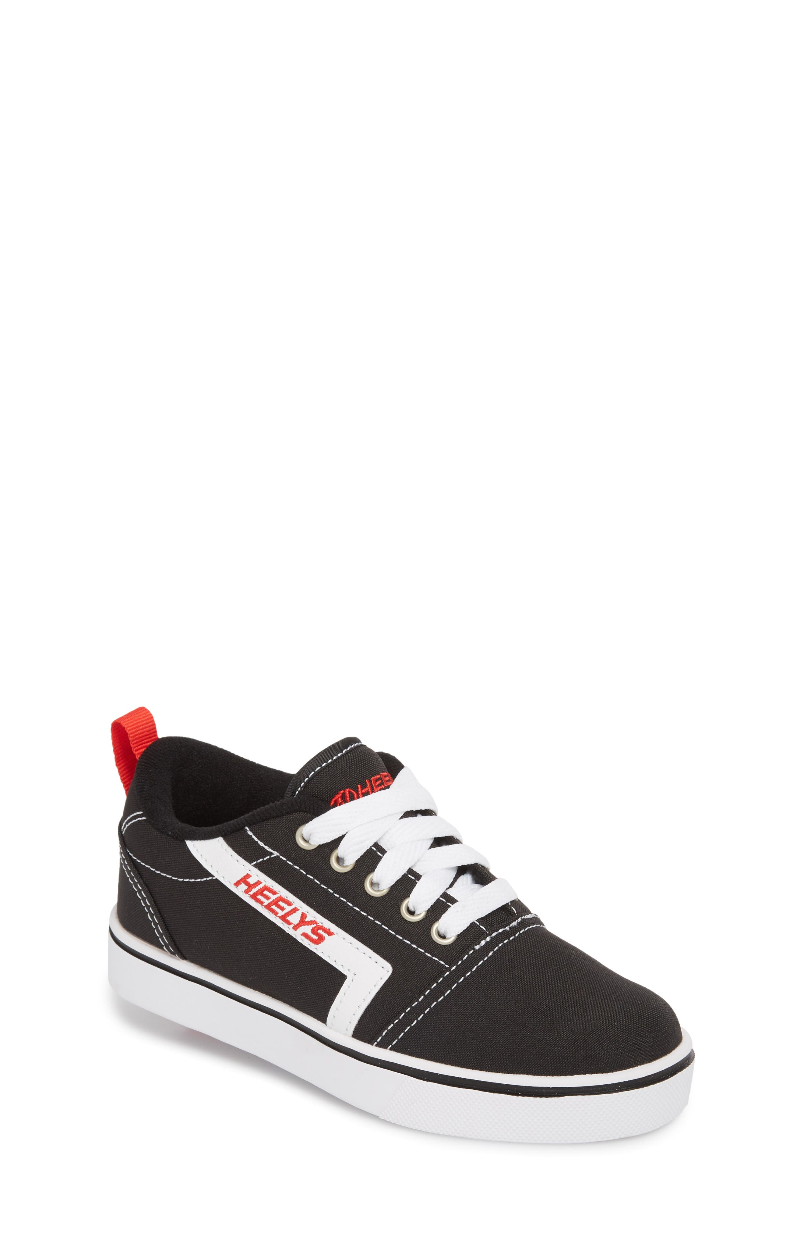 GR8 Pro Wheeled Sneaker,                         Main,                         color, BLACK/ WHITE/ RED