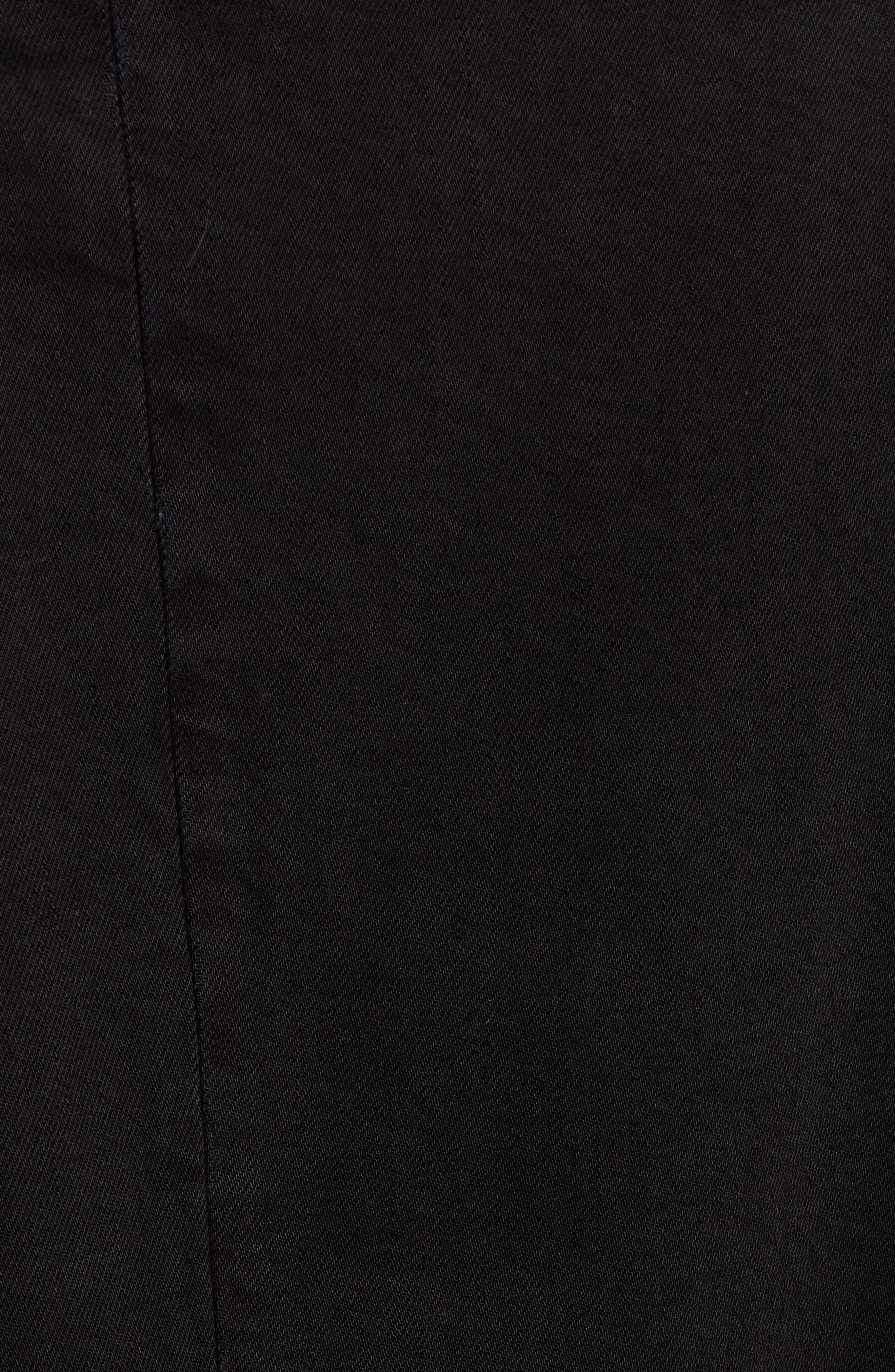 Relaxed Fit Long Denim Coat,                             Alternate thumbnail 7, color,                             BLACK INDIGO