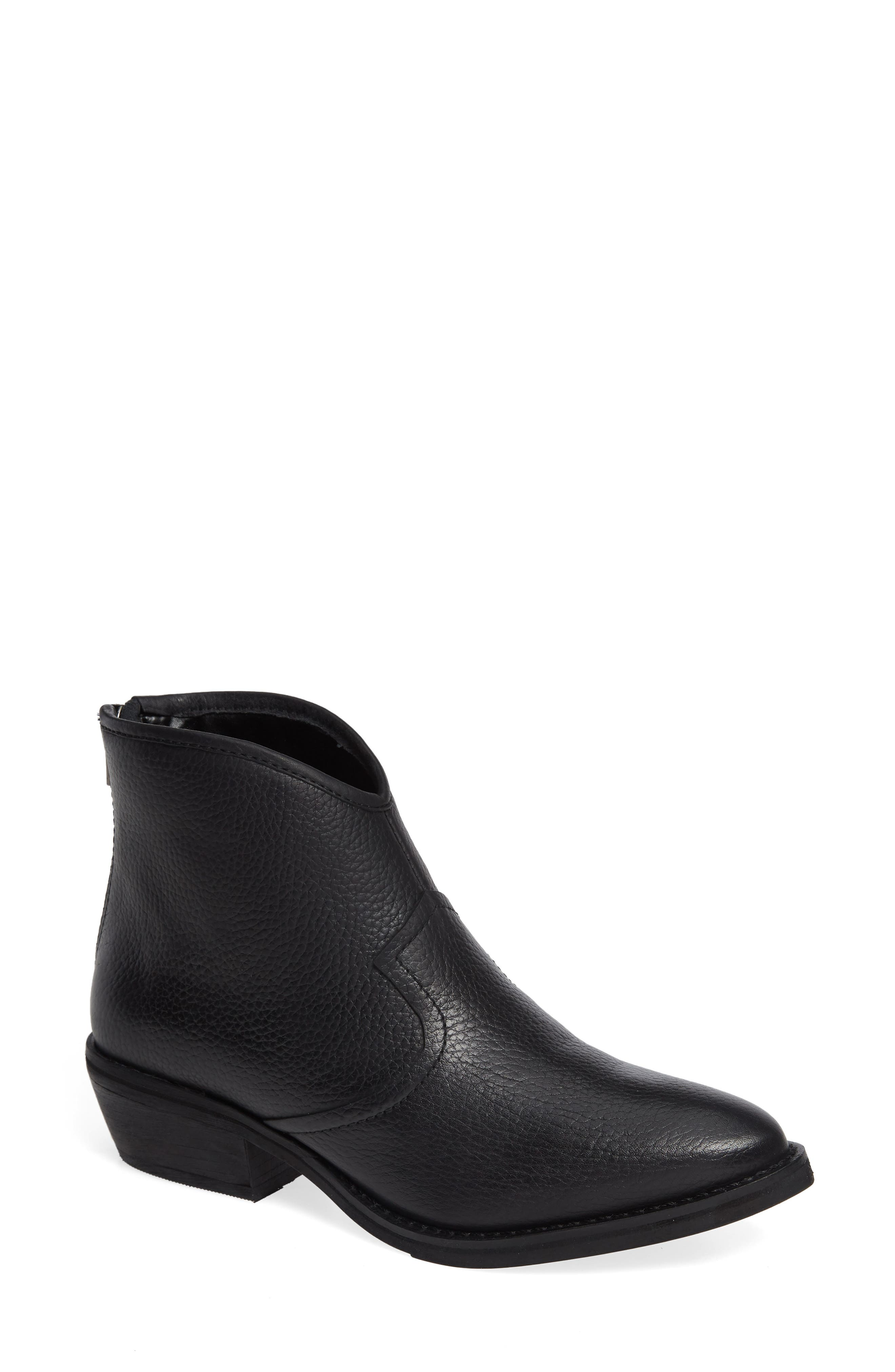 LUST FOR LIFE Patron Bootie in Black Leather
