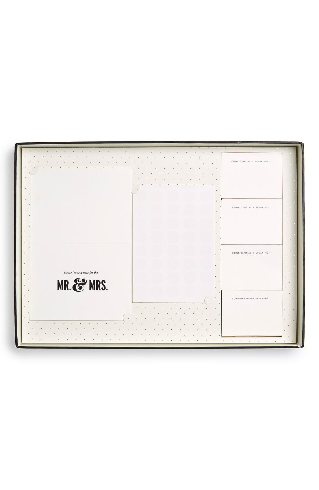 KATE SPADE NEW YORK,                             'notes to the bride & groom' guest book,                             Alternate thumbnail 5, color,                             100