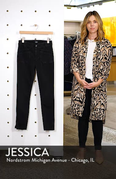 Hoxton Utilitarian High Waist Ankle Skinny Jeans, sales video thumbnail