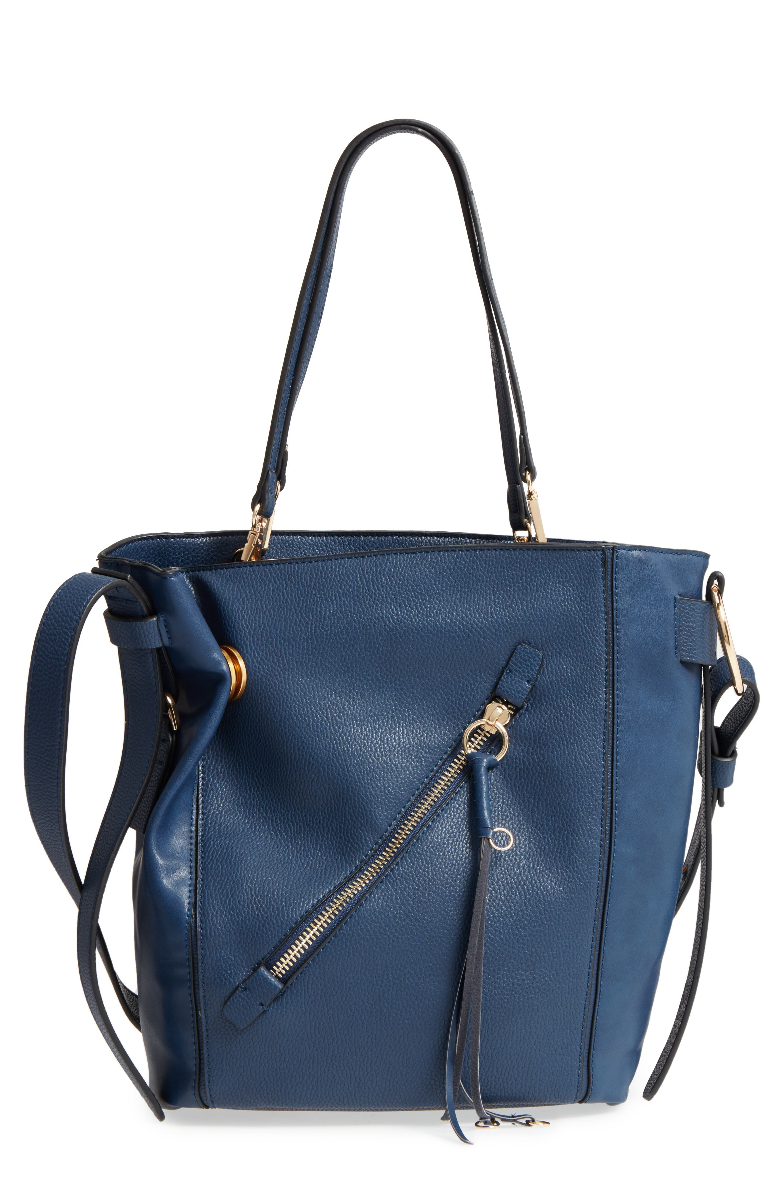 SR Squared by Sondra Roberts Faux Leather Tote, Main, color, 410