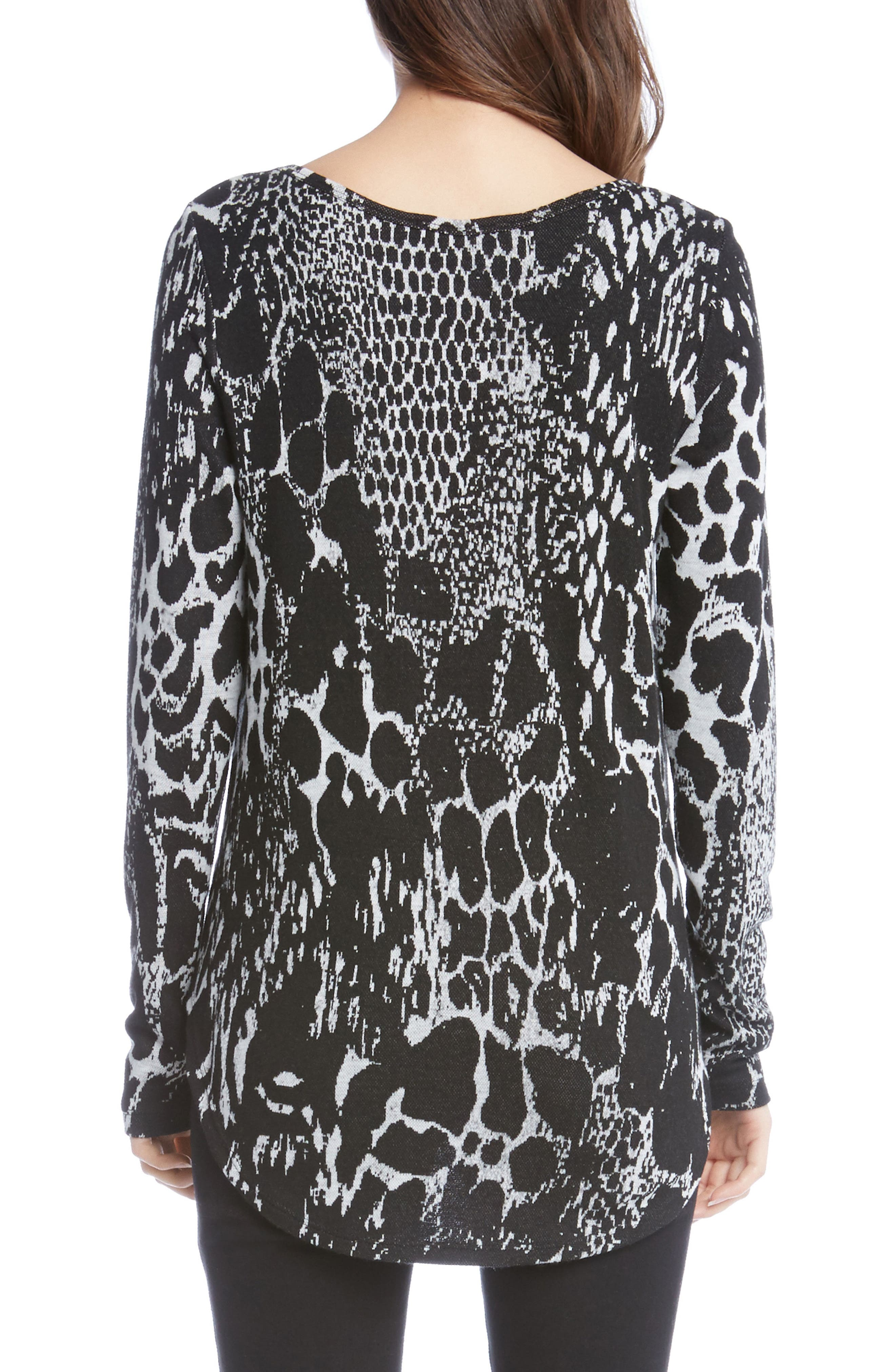Animal Print Shirttail Top,                             Alternate thumbnail 2, color,