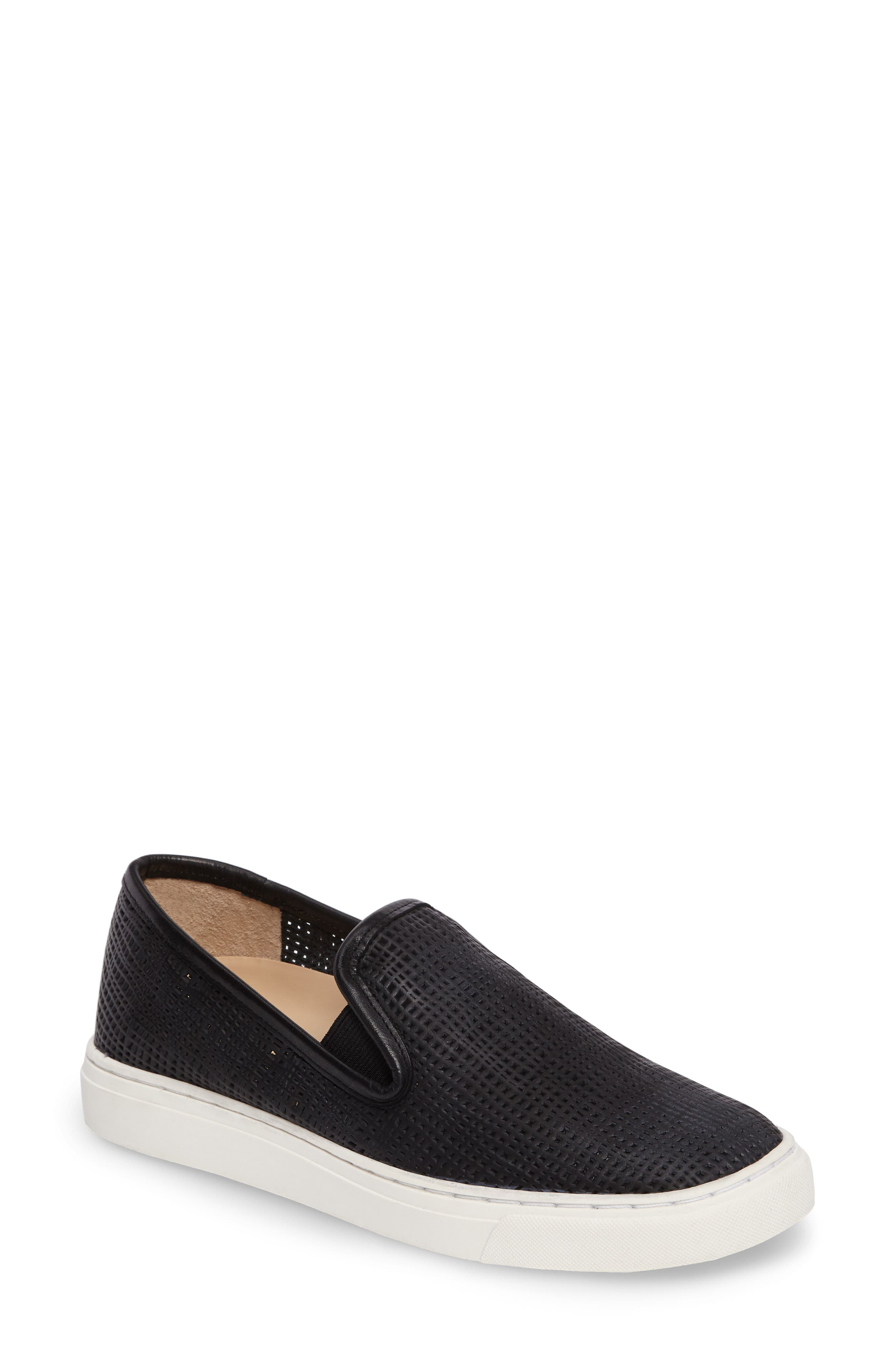 Becker Perforated Slip-On Sneaker,                             Main thumbnail 1, color,                             001