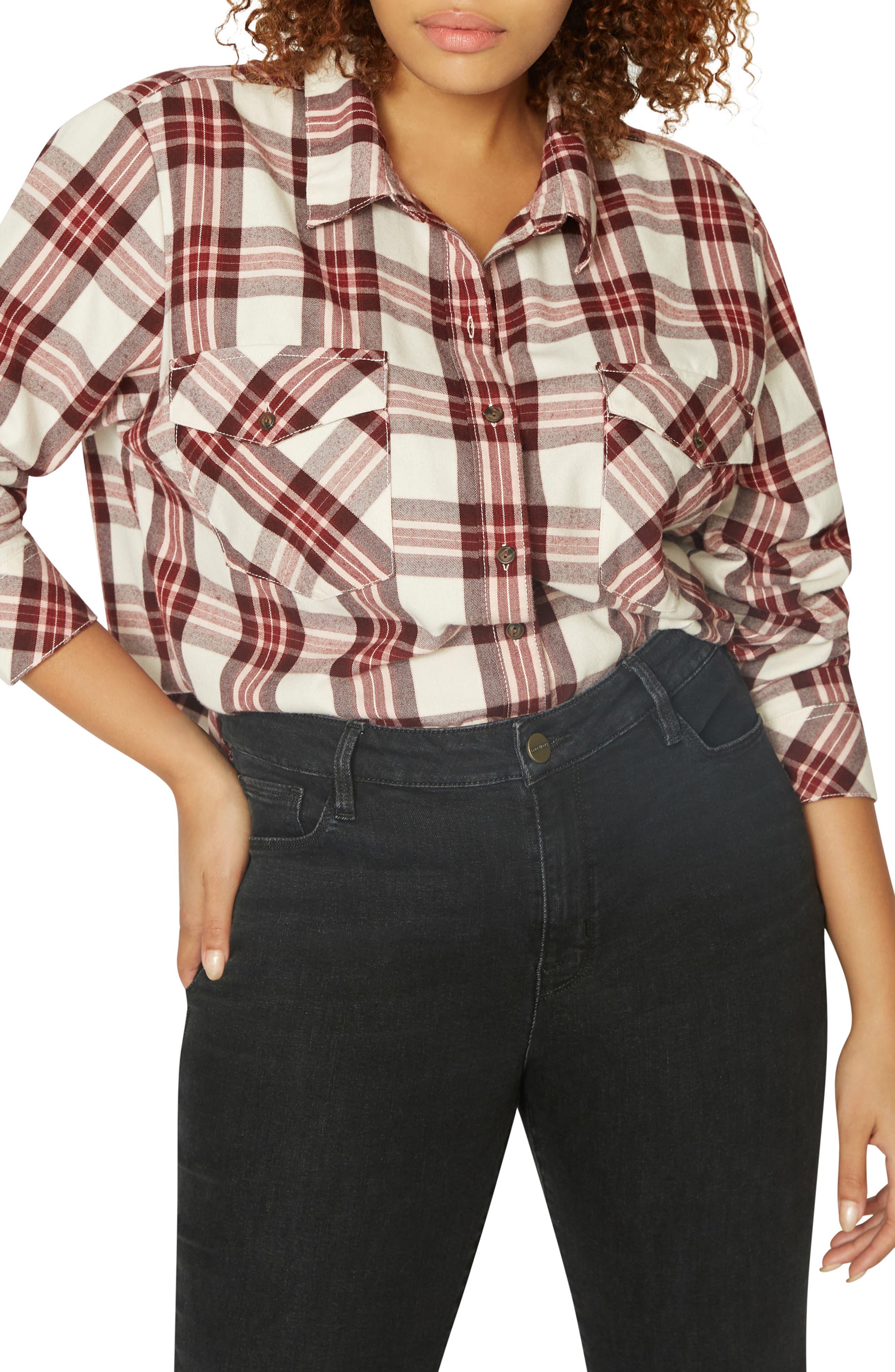 Boyfriend for Life Flannel Shirt,                             Alternate thumbnail 3, color,                             RENEGADE P