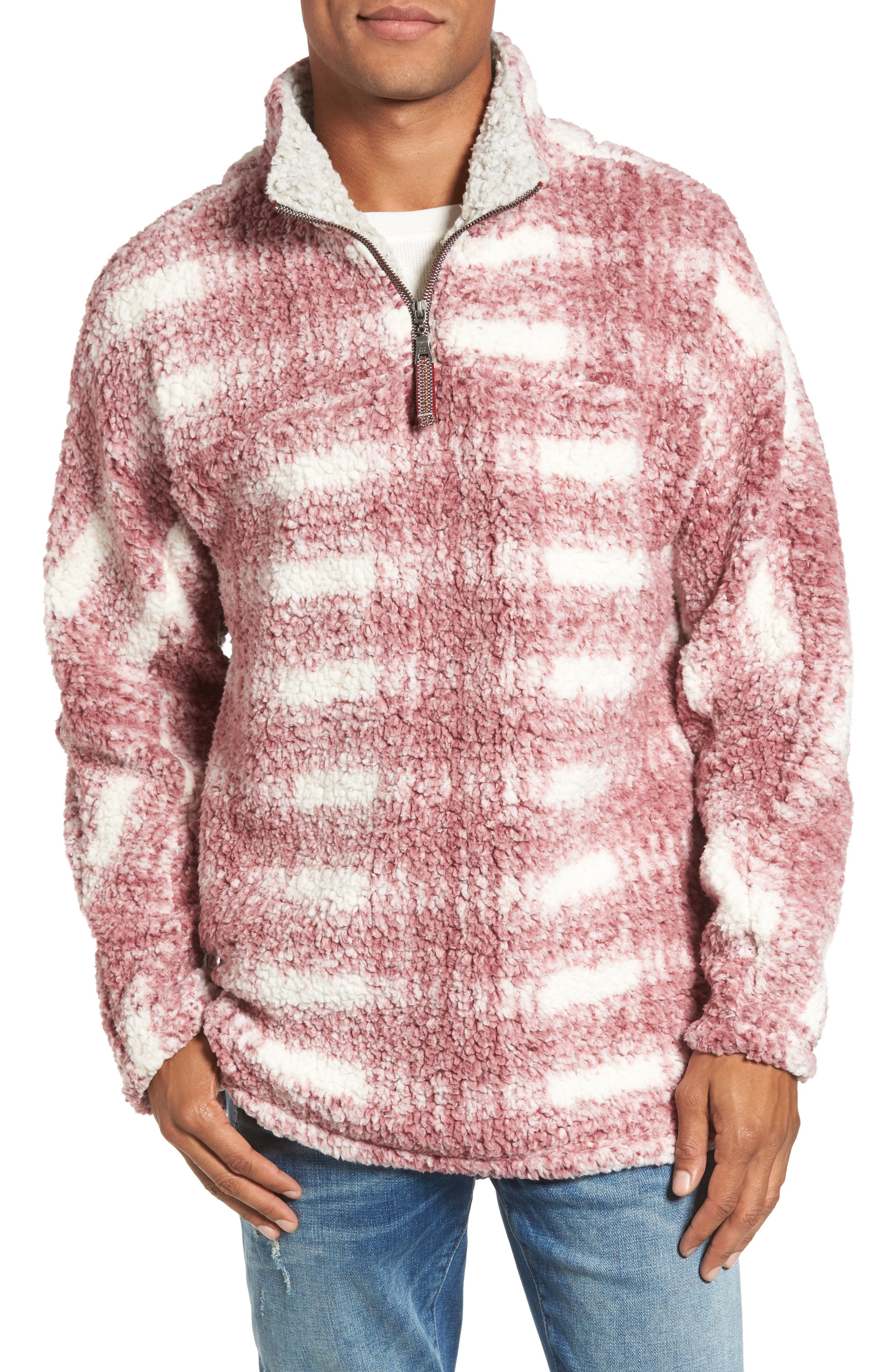 Big Plaid Frosty Tipped Faux Fur Pullover,                             Main thumbnail 2, color,