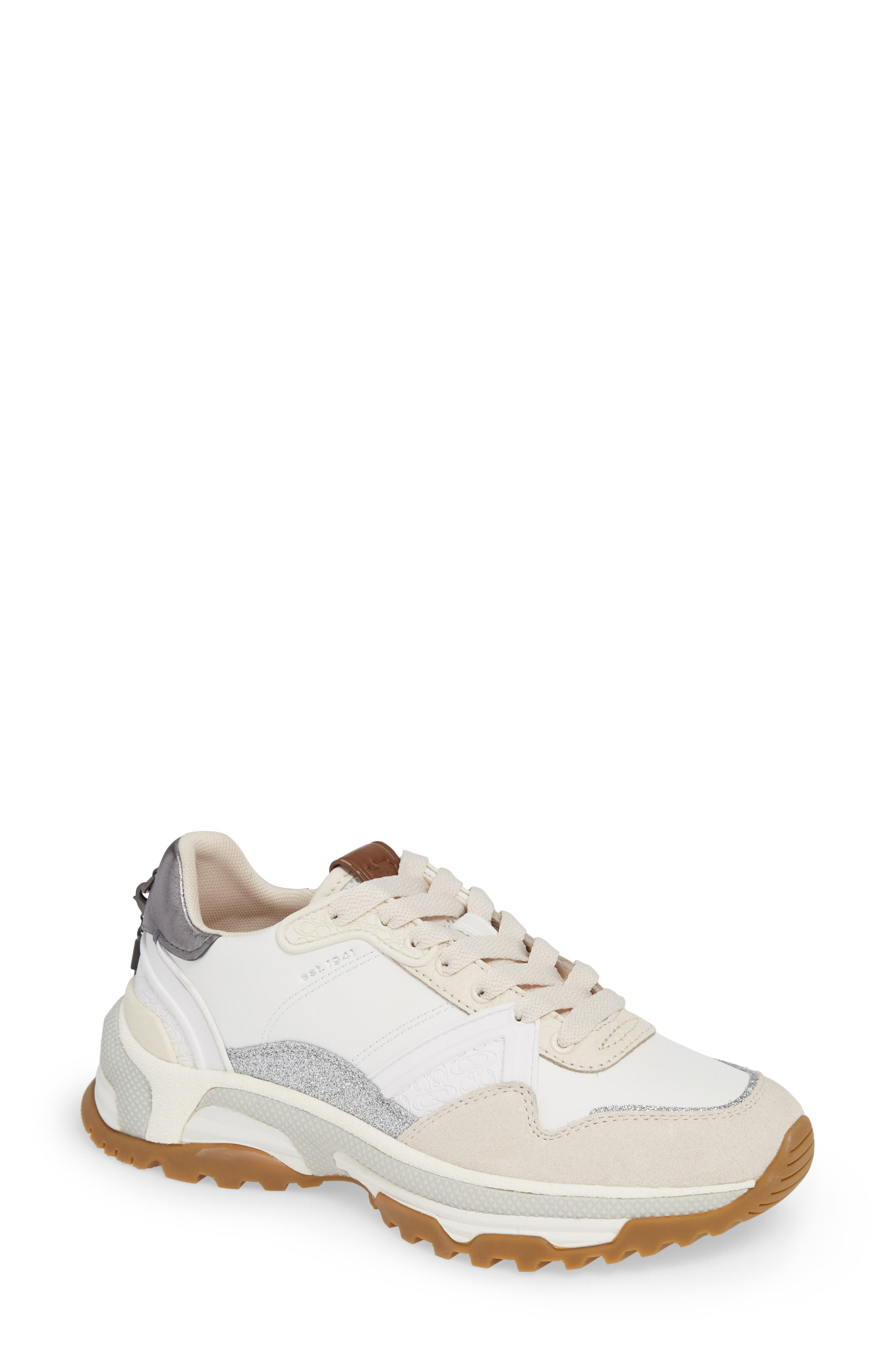 GLT Sneaker,                         Main,                         color, WHITE LEATHER/ SUEDE