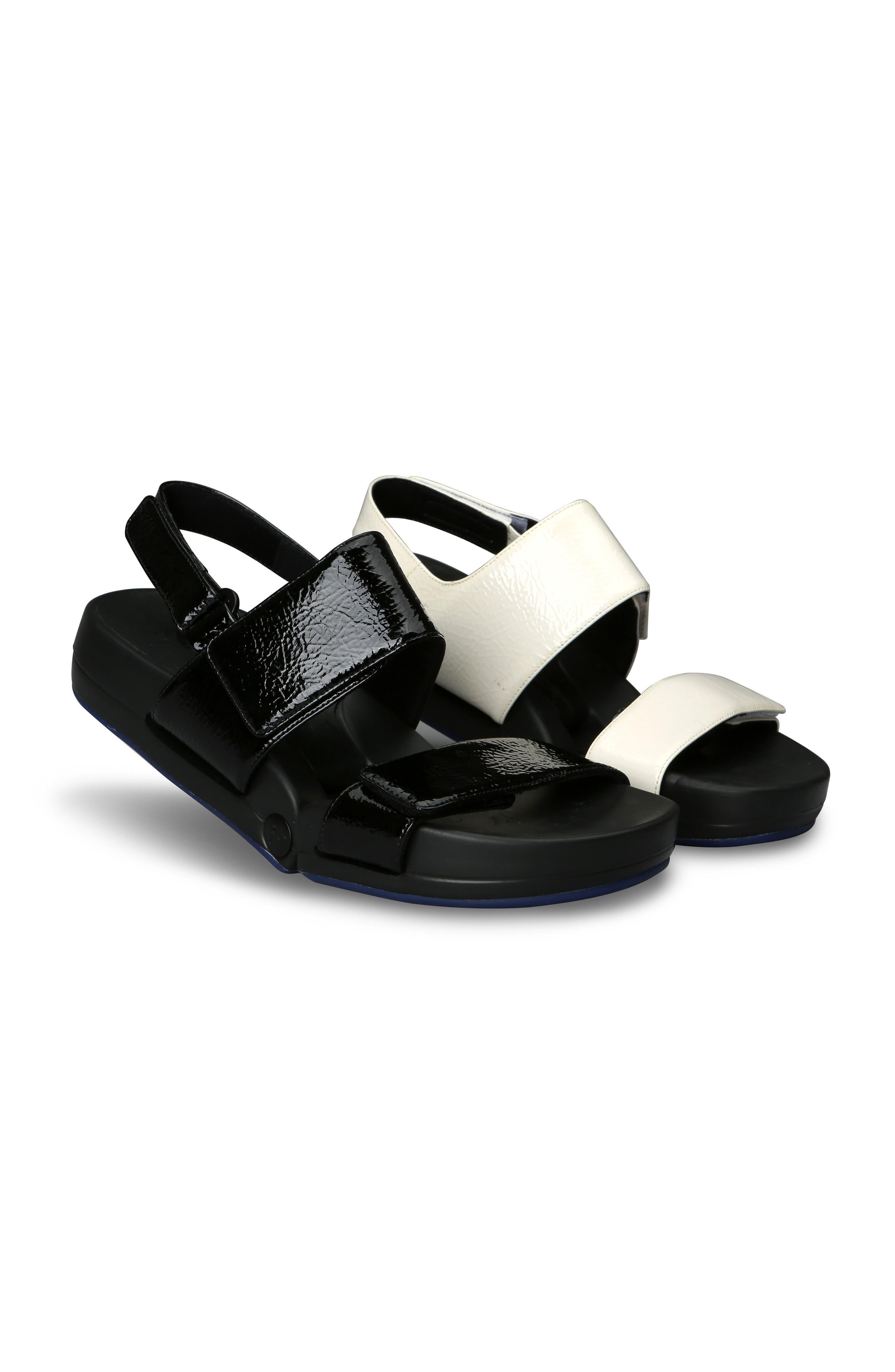Figulous Sandal,                             Alternate thumbnail 9, color,                             BLACK CRINKLE PATENT LEATHER