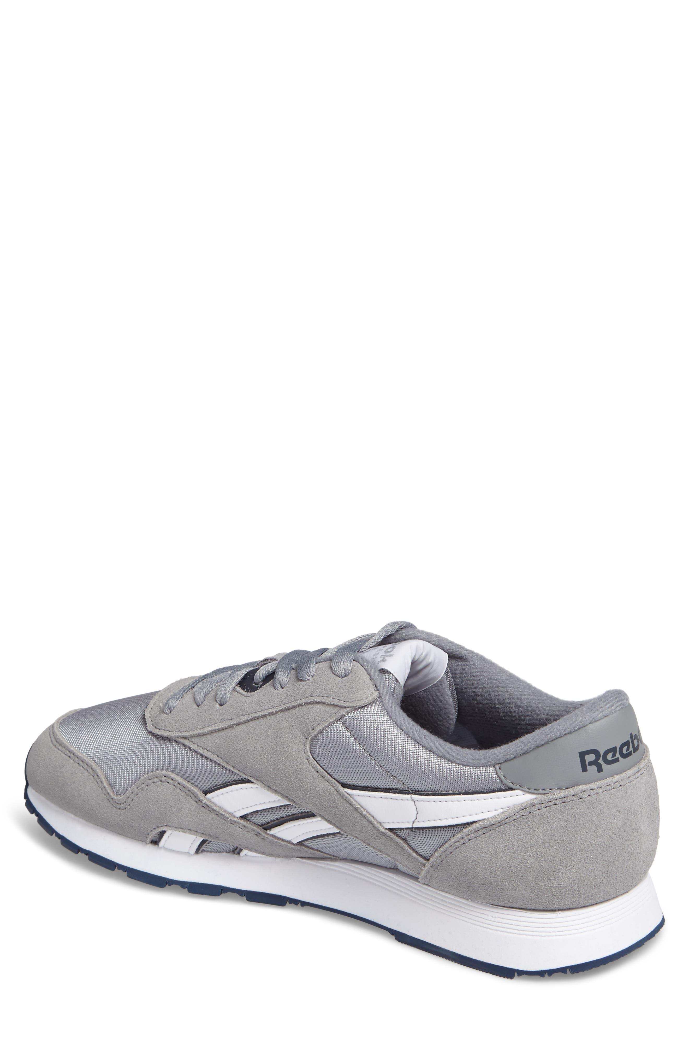 Classic Nylon Sneaker,                             Alternate thumbnail 2, color,                             PLATINUM/ JET BLUE