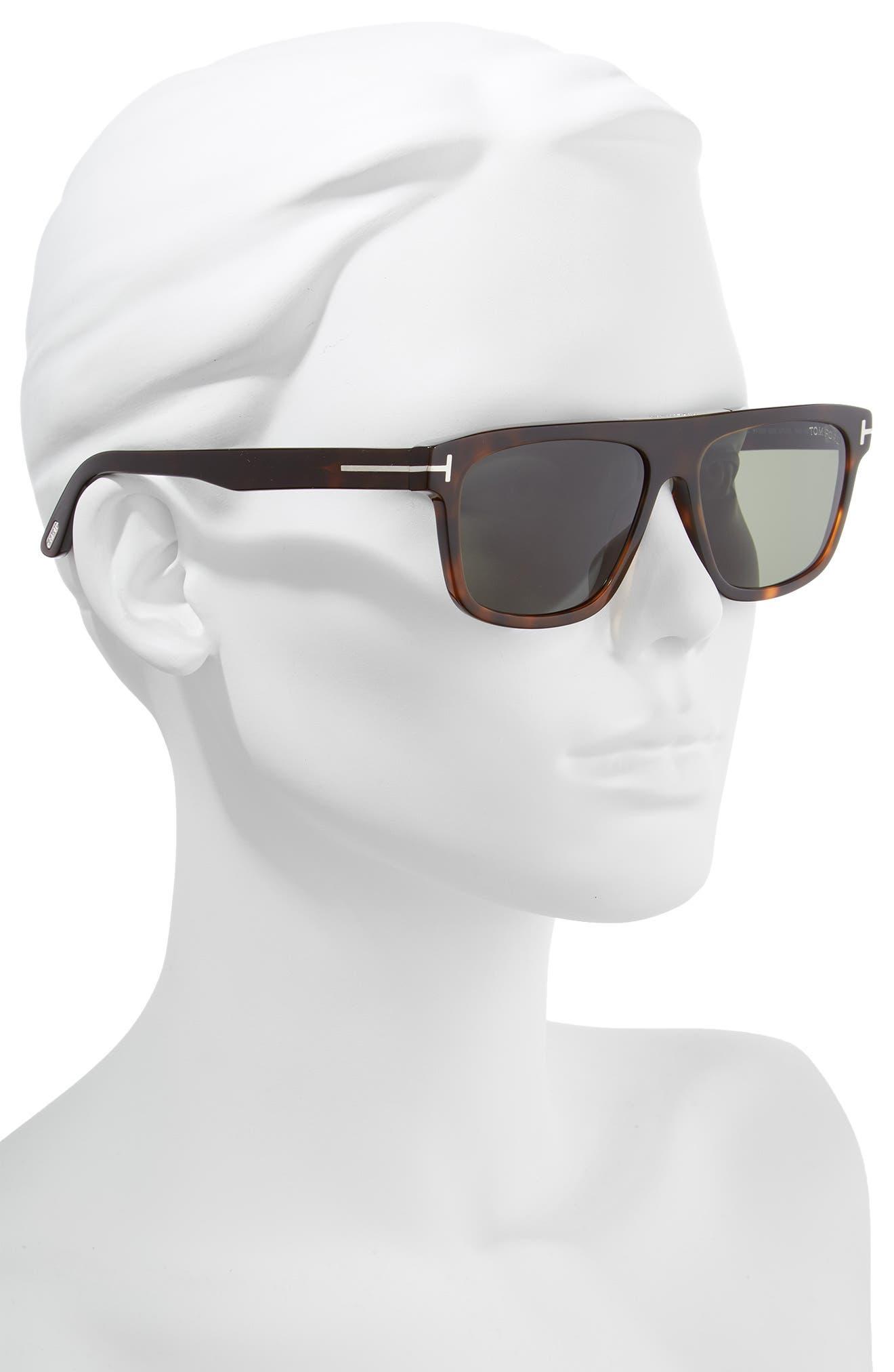 Cecilio 57mm Blue Block Optical Glasses,                             Alternate thumbnail 2, color,                             DARK HAVANA/ GREEN