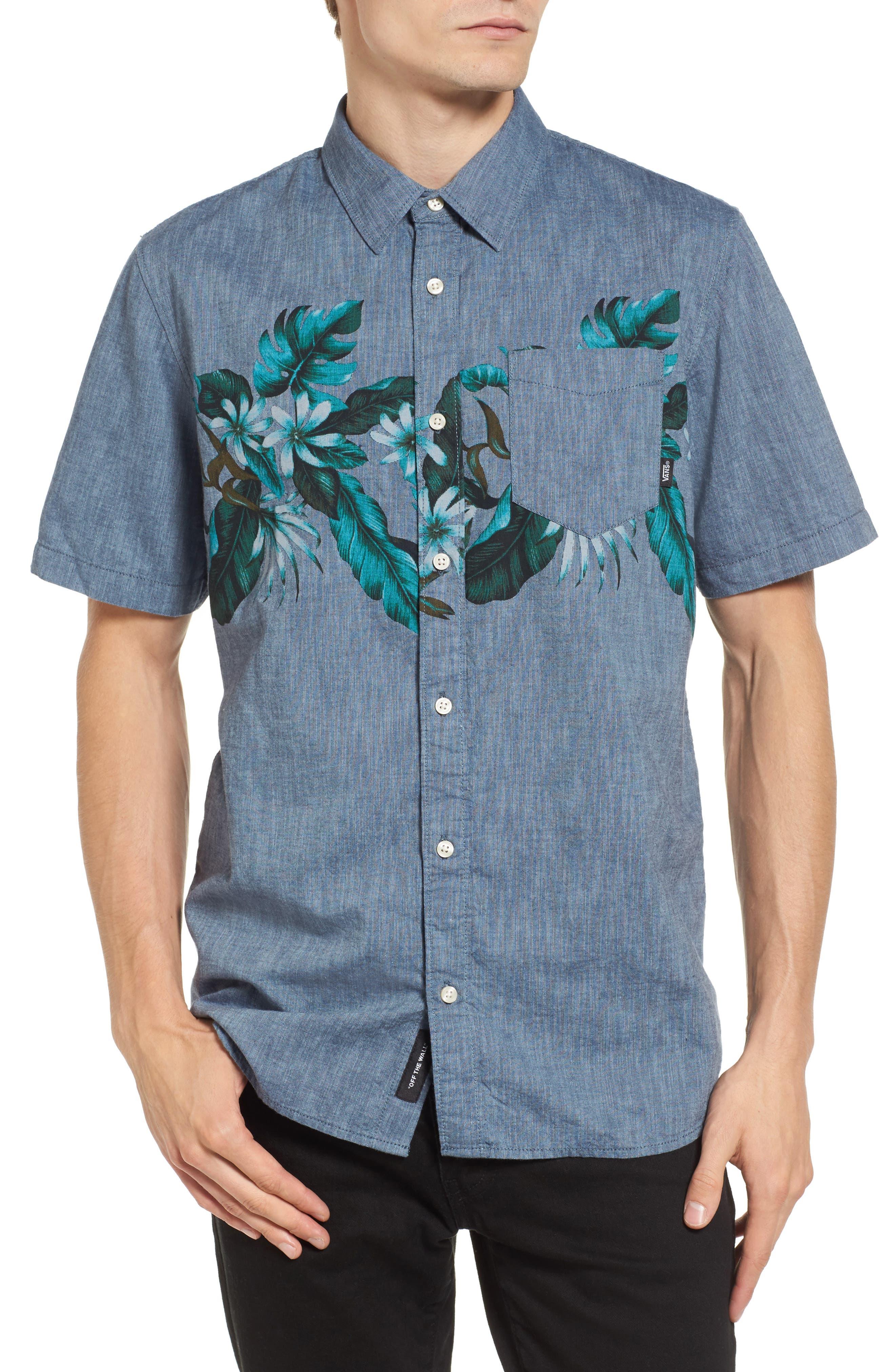 Floral Woven Shirt,                         Main,                         color,