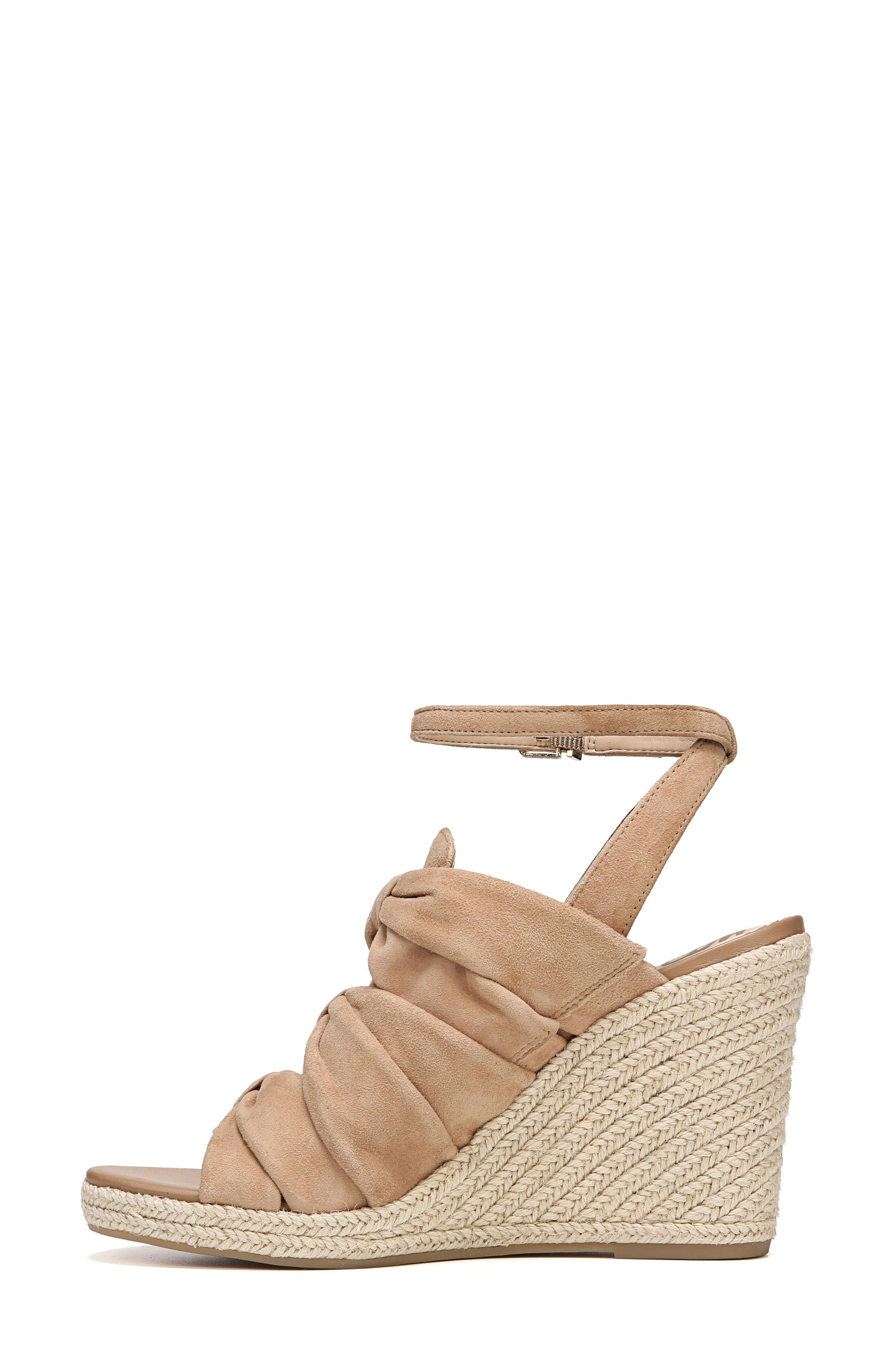 Awan Cinched Wedge Sandal,                             Alternate thumbnail 6, color,