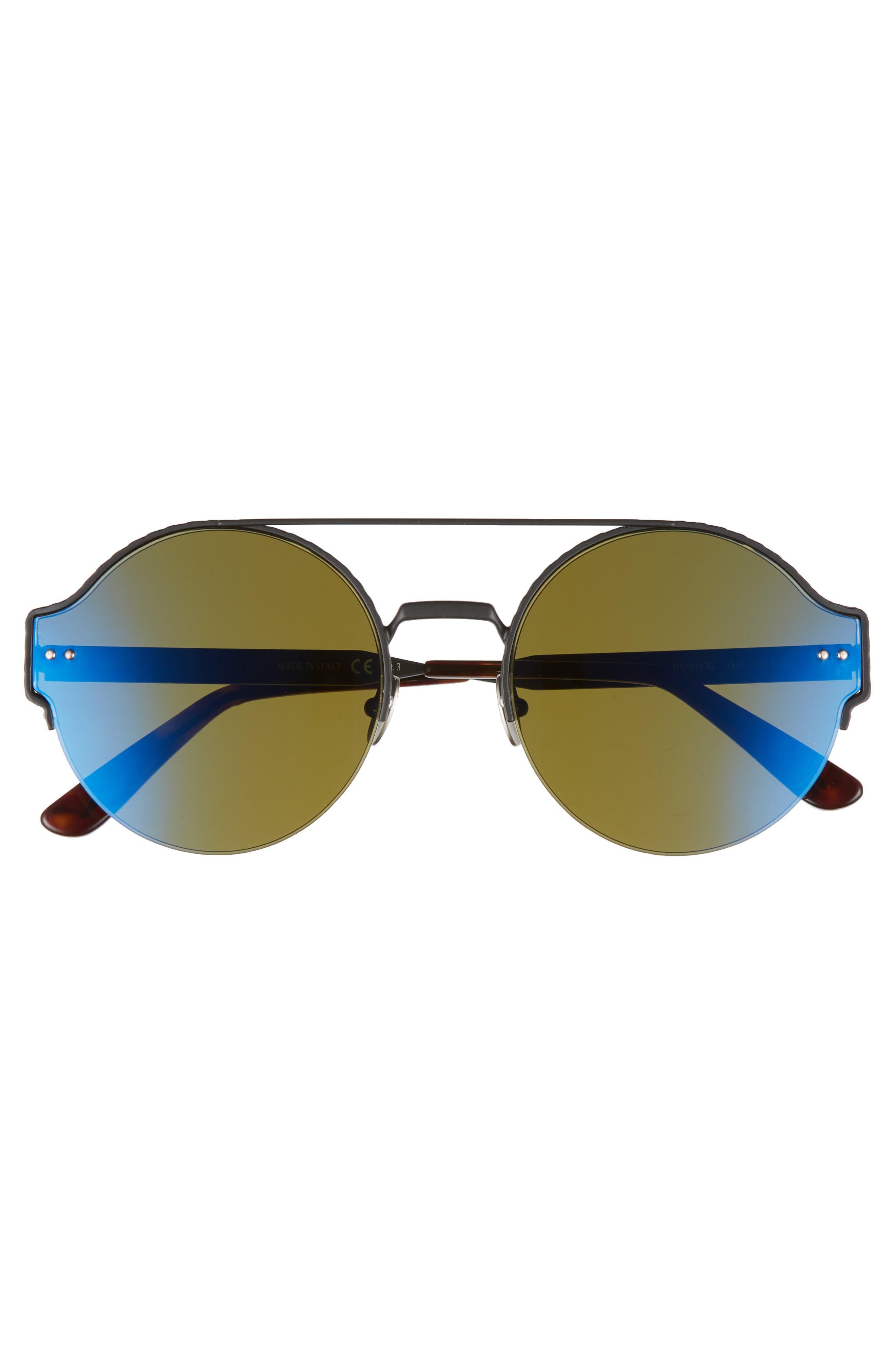 54mm Round Semi-Rimless Sunglasses,                             Alternate thumbnail 7, color,
