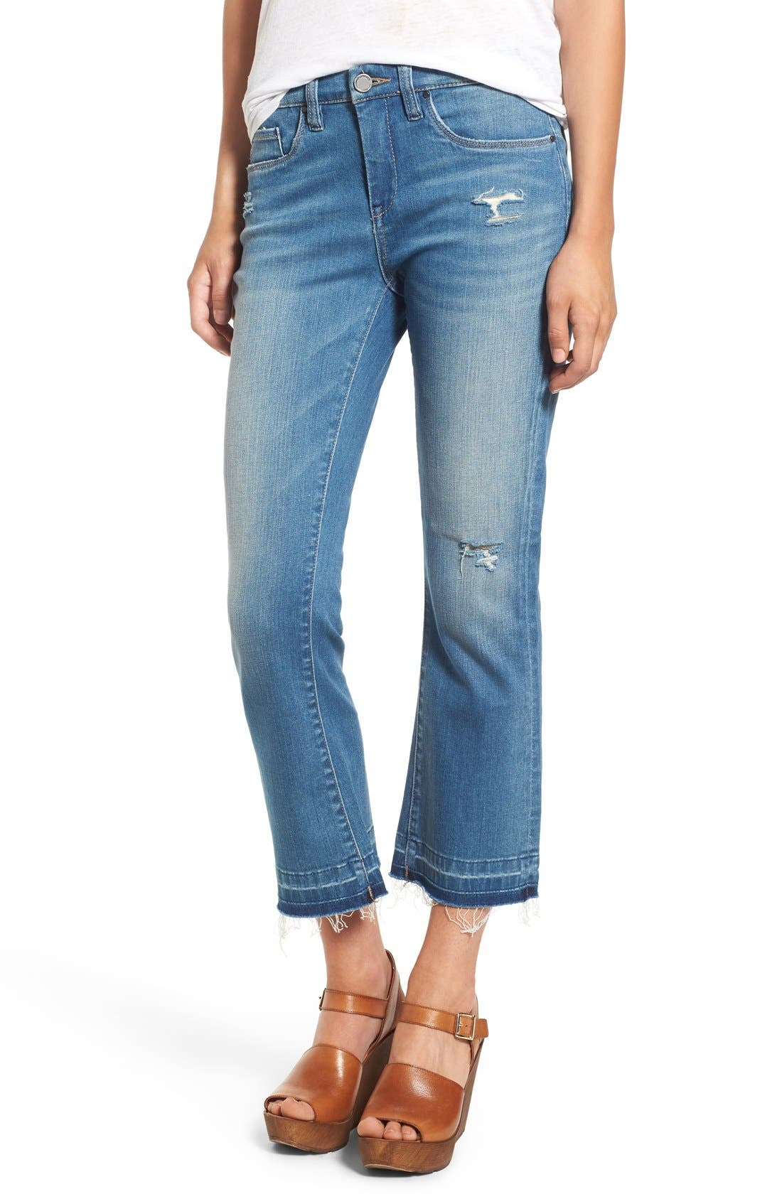 Released Hem Ankle Flare Jeans,                             Main thumbnail 1, color,                             420