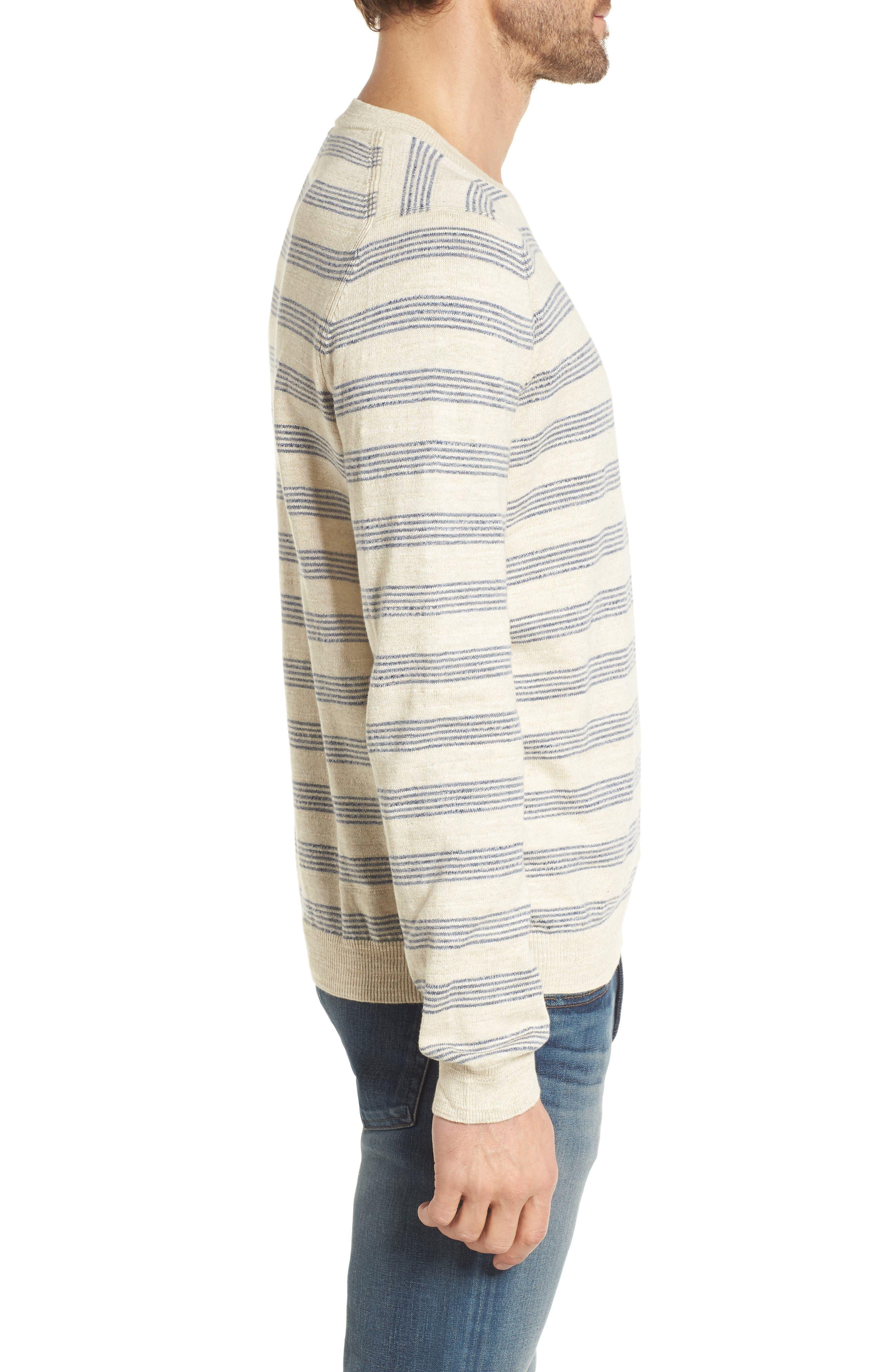 Stripe Cotton Sweater,                             Alternate thumbnail 3, color,                             900