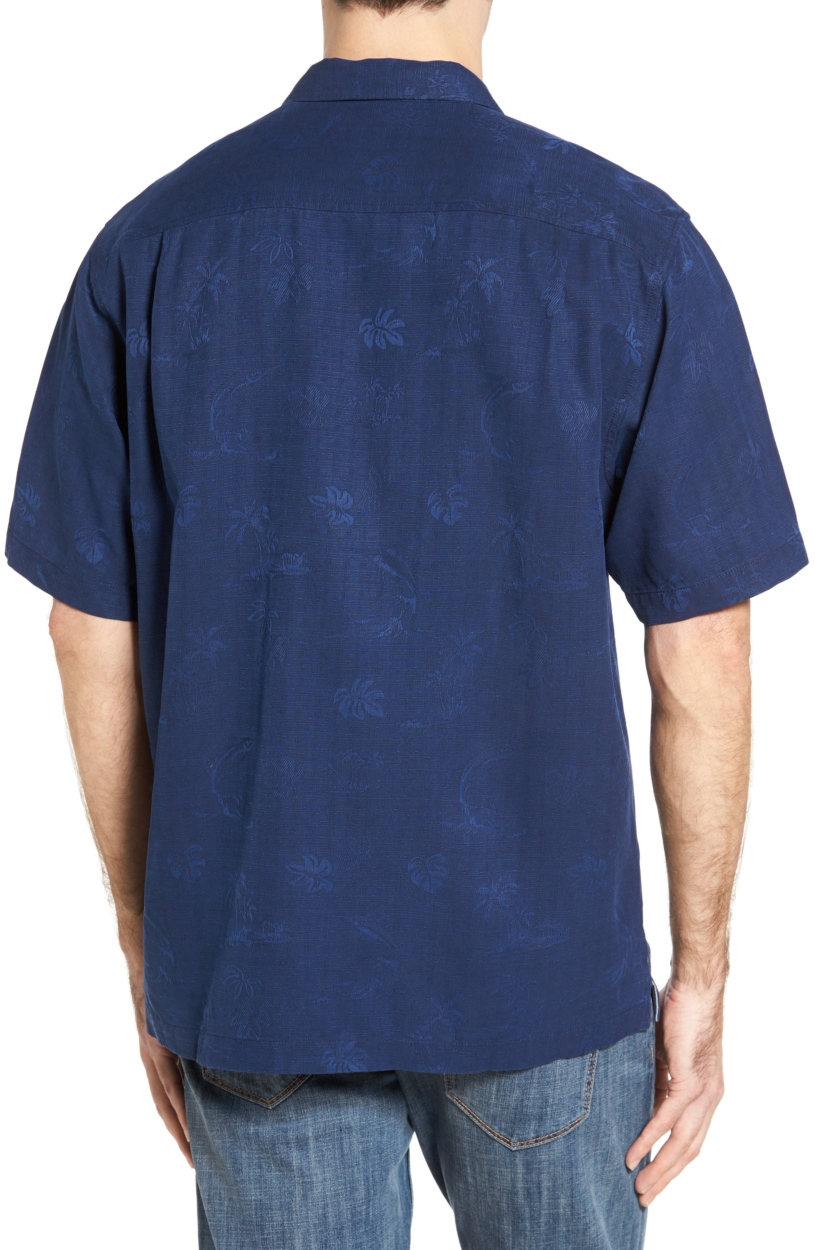 Gulf Shore Marlin Silk Camp Shirt,                             Alternate thumbnail 9, color,