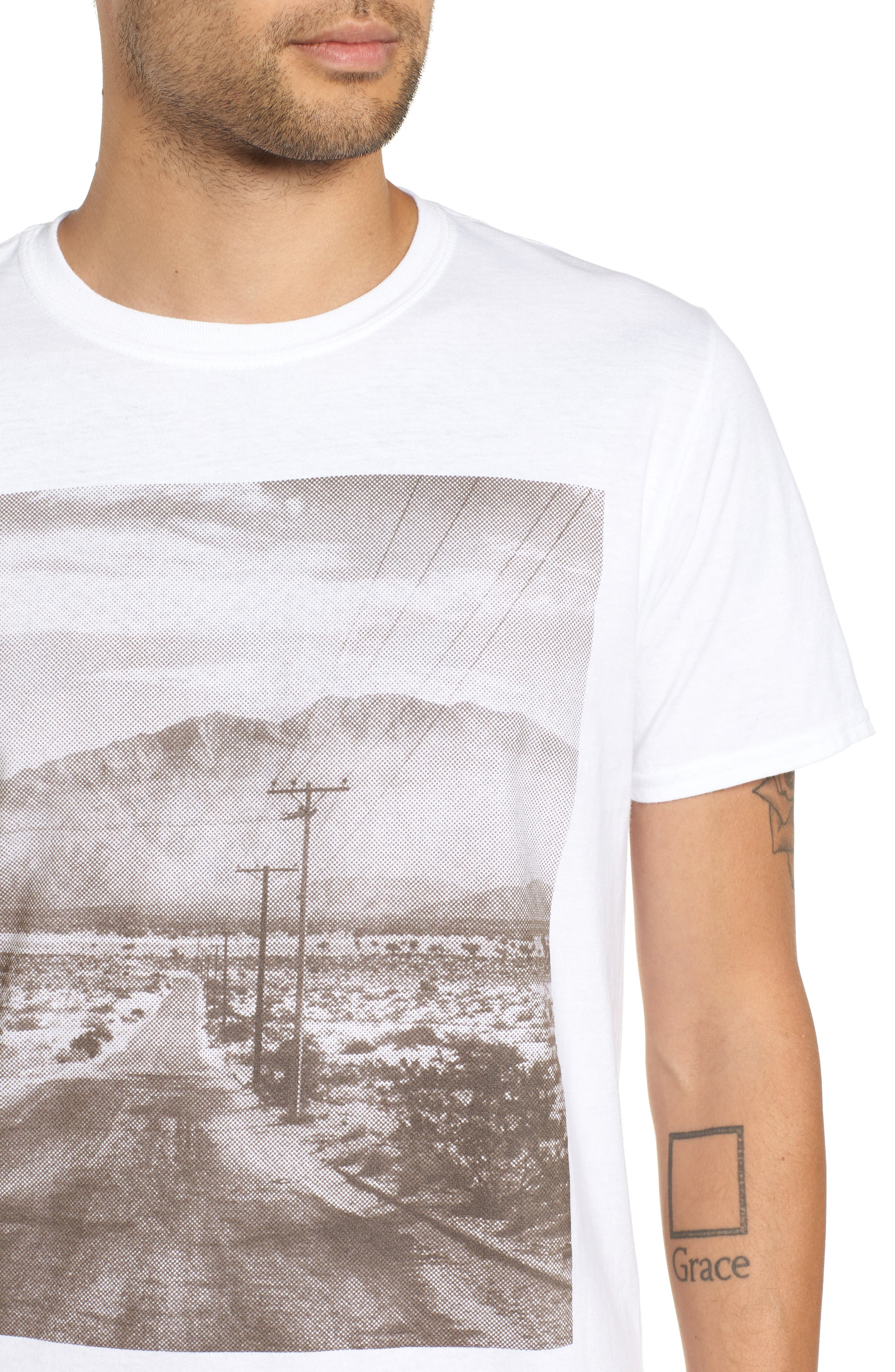 Deserted Road Photo T-Shirt,                             Alternate thumbnail 4, color,                             100