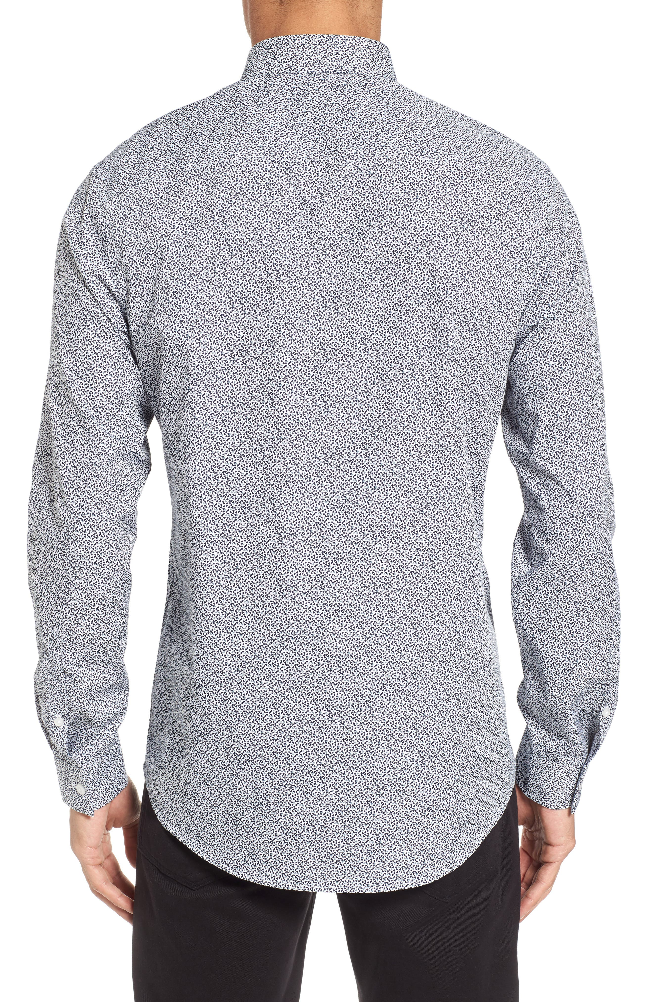 Trim Fit Geometric Sport Shirt,                             Alternate thumbnail 2, color,                             410