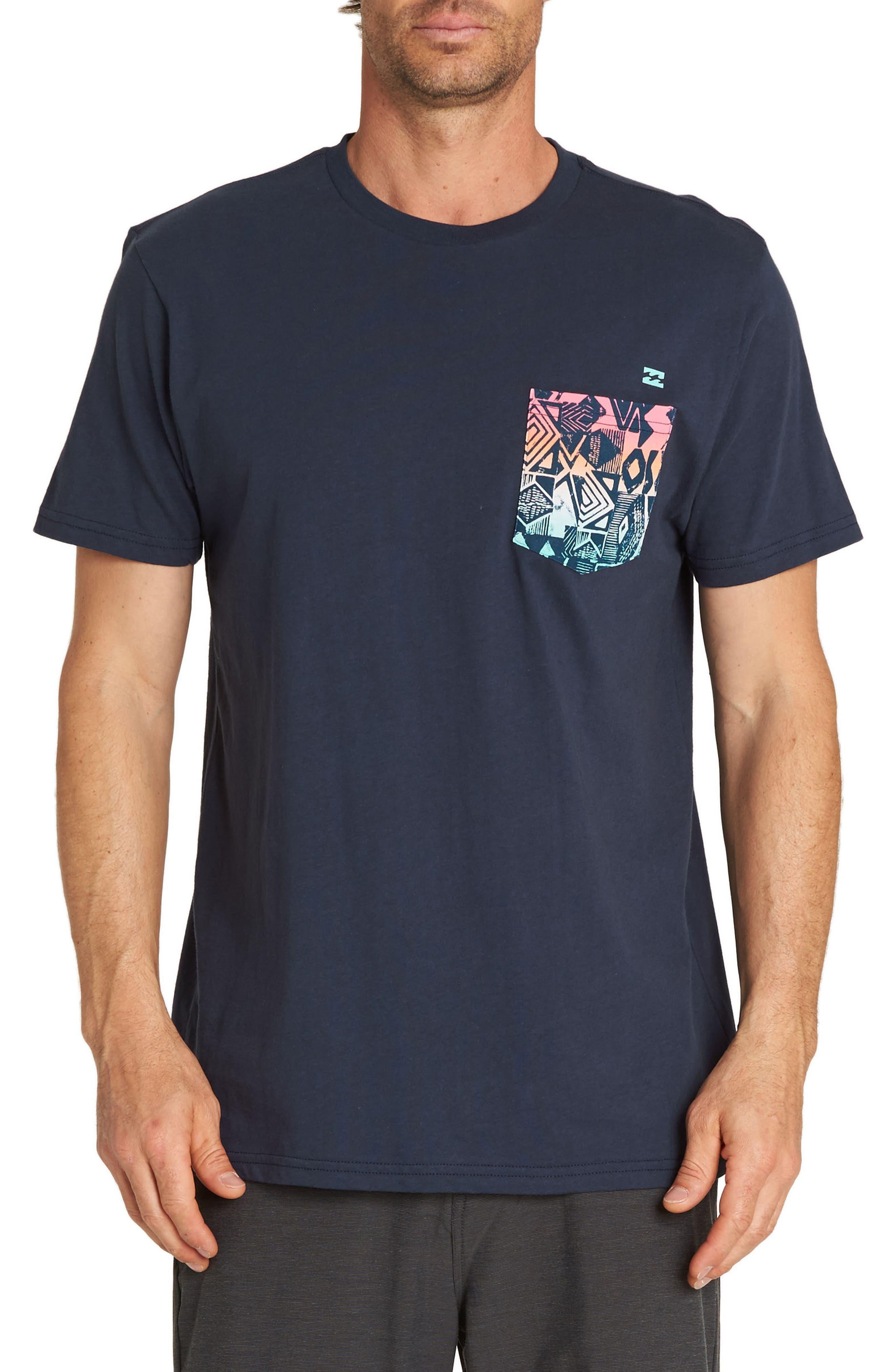 Team Print Pocket T-Shirt,                         Main,                         color, NAVY