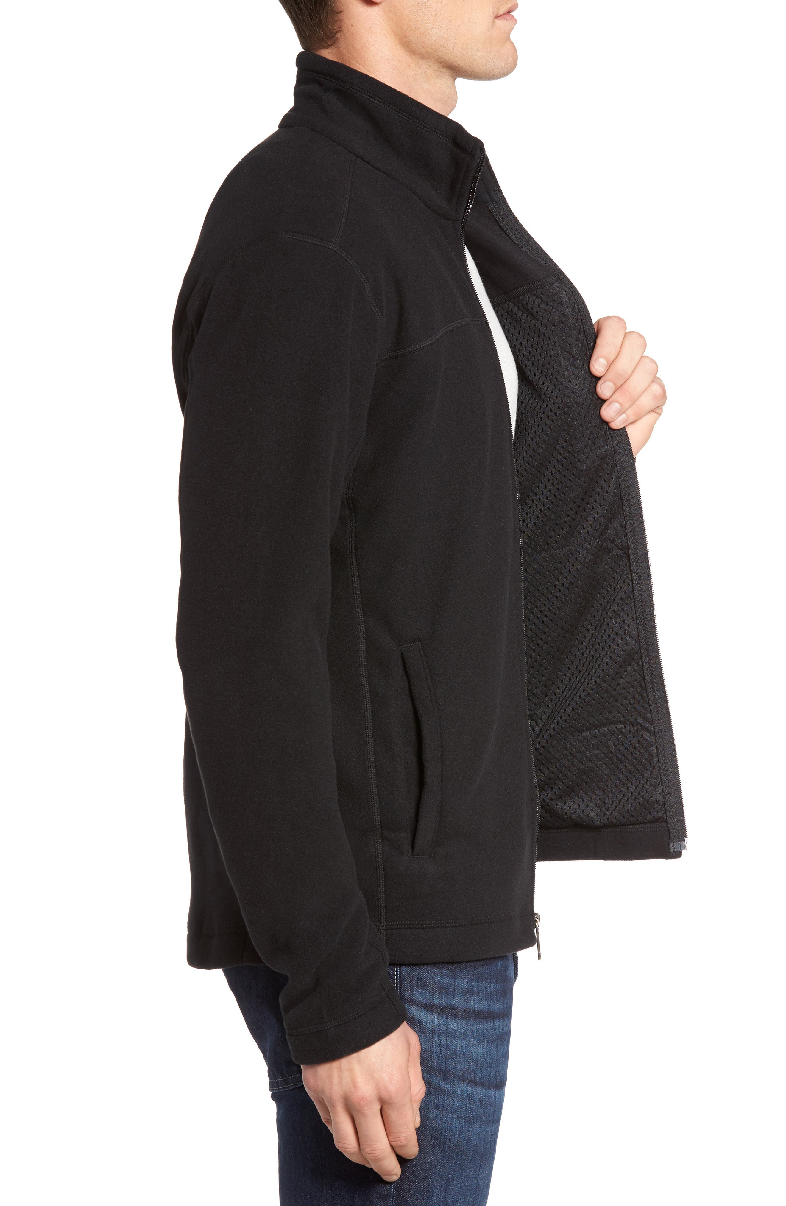 Micro D<sup>®</sup> Fleece Jacket,                             Alternate thumbnail 4, color,                             001