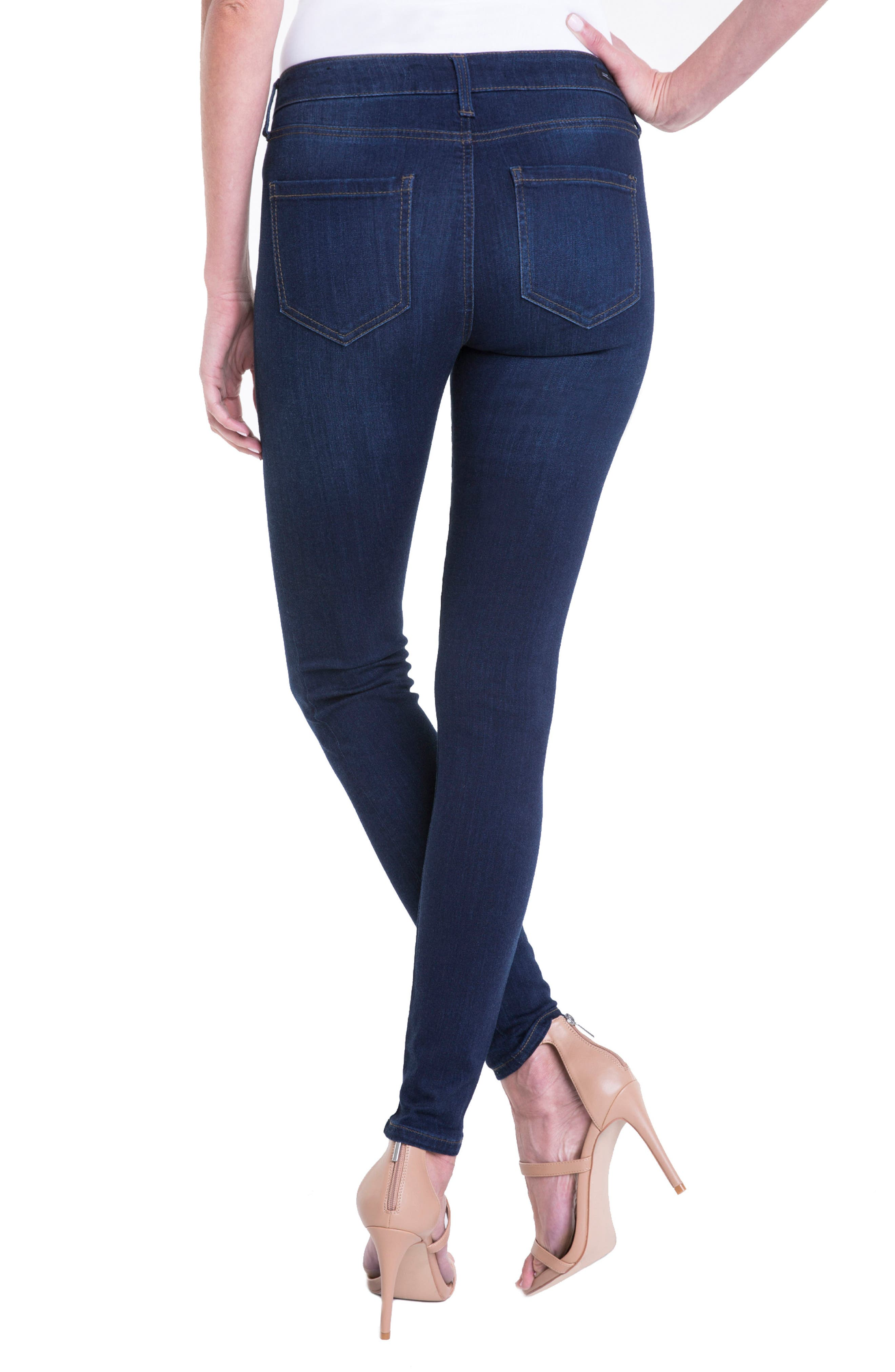 Abby Mid Rise Soft Stretch Skinny Jeans,                             Alternate thumbnail 2, color,                             DOHENY DARK