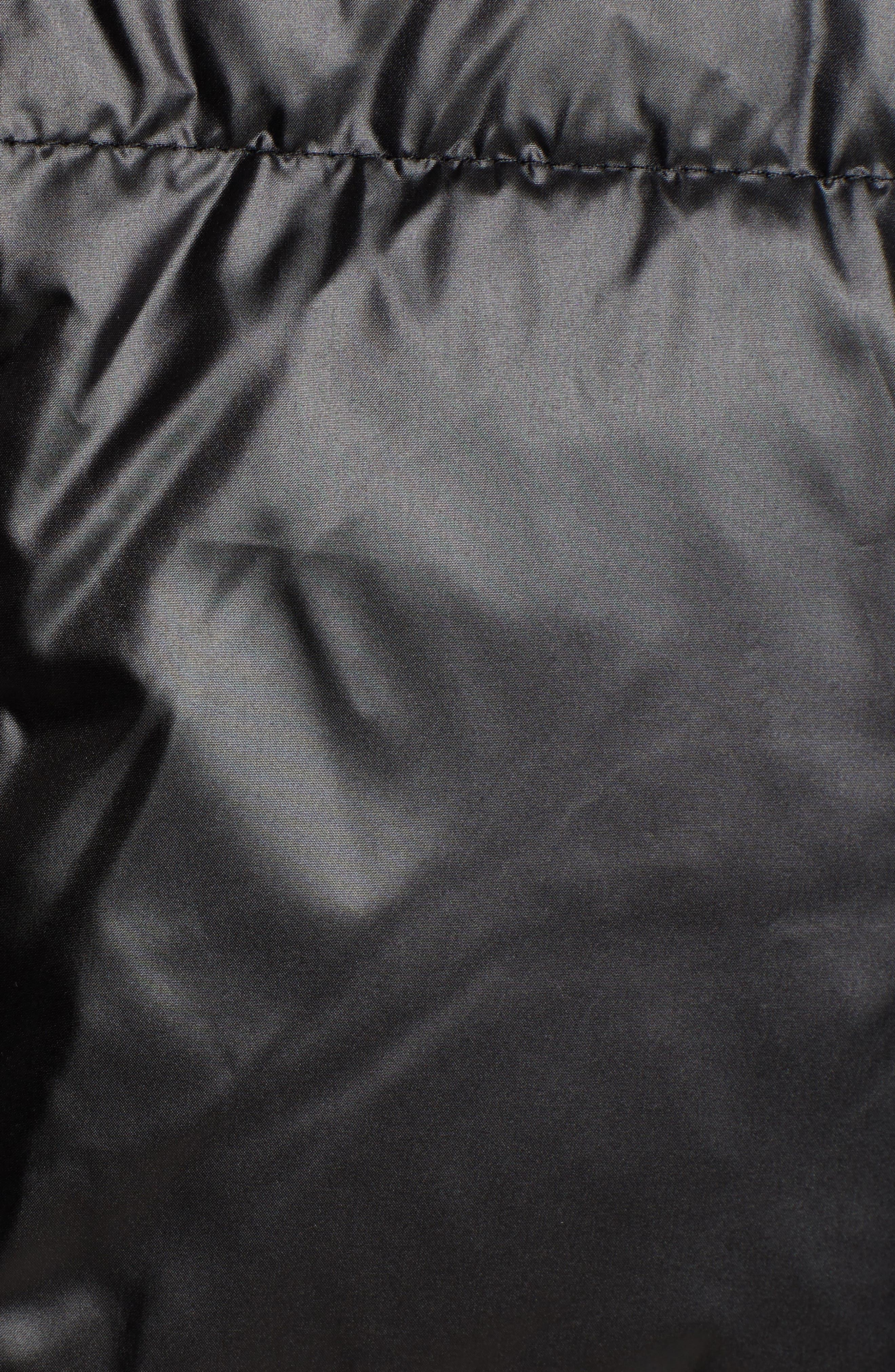 SAM EDELMAN,                             Cire Faux Fur Trim Down Quilted Coat,                             Alternate thumbnail 7, color,                             BLACK