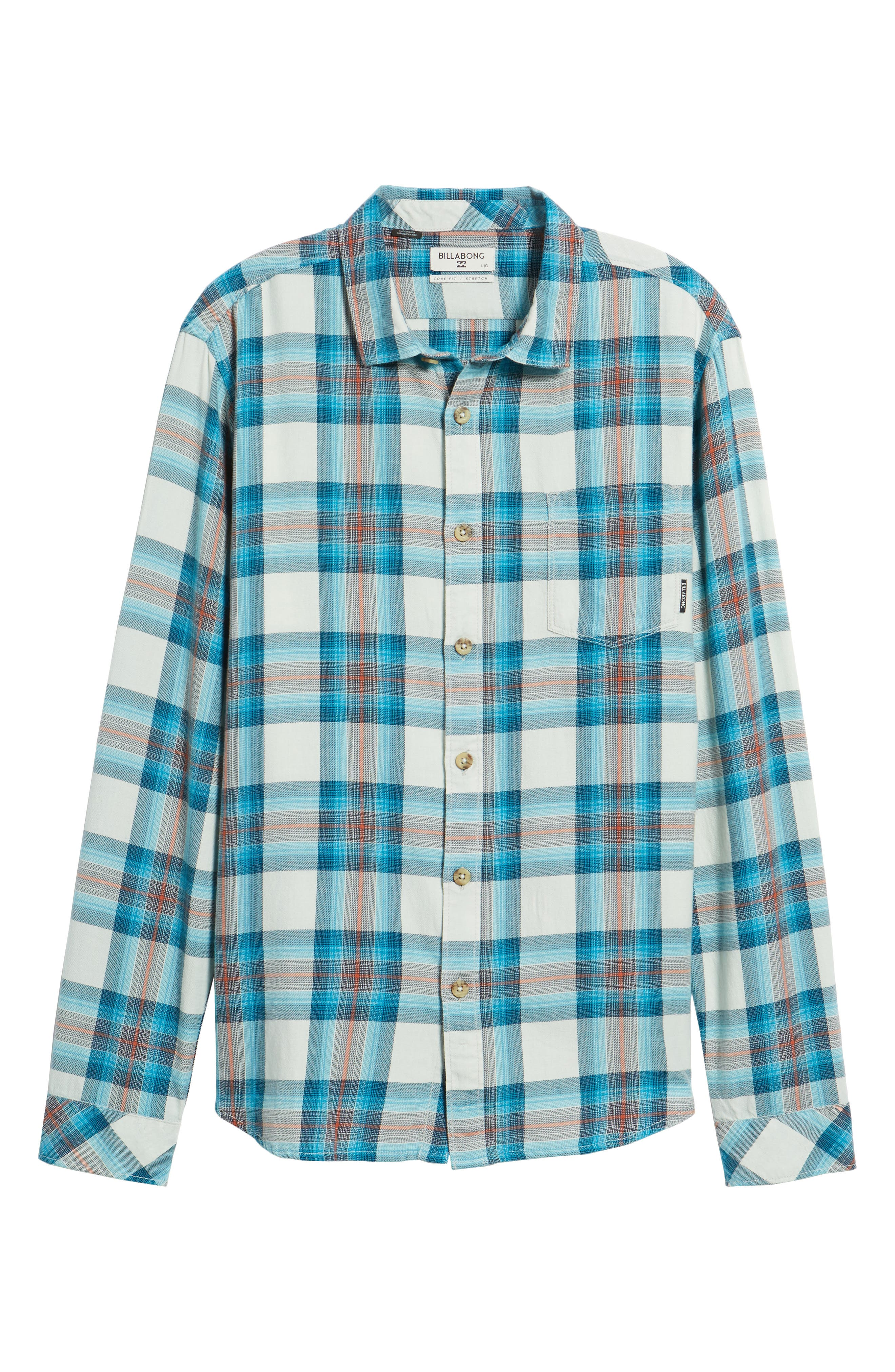Freemont Flannel Shirt,                             Alternate thumbnail 6, color,                             020