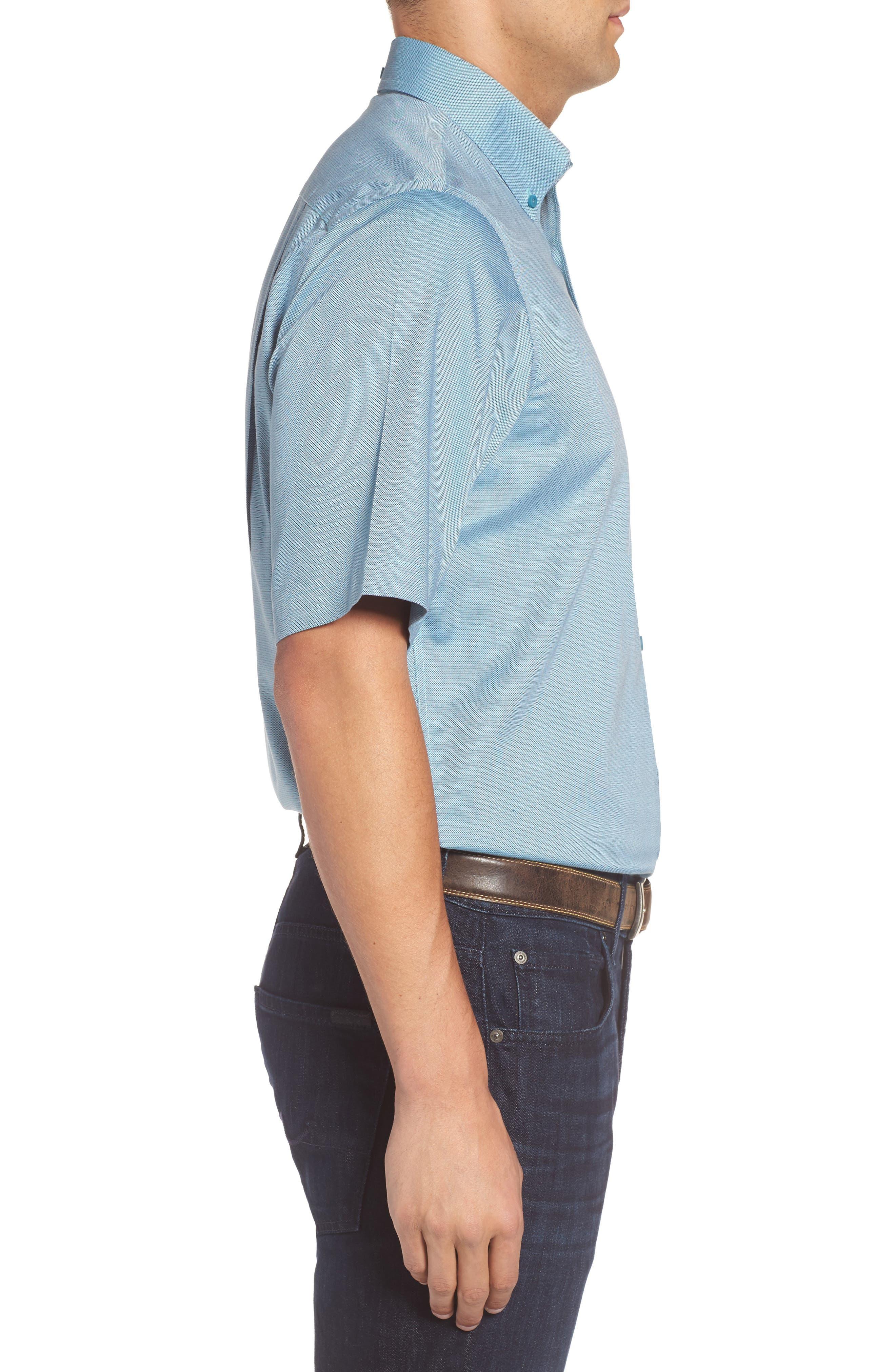 'Classic' Smartcare<sup>™</sup> Regular Fit Short Sleeve Cotton Sport Shirt,                             Alternate thumbnail 72, color,