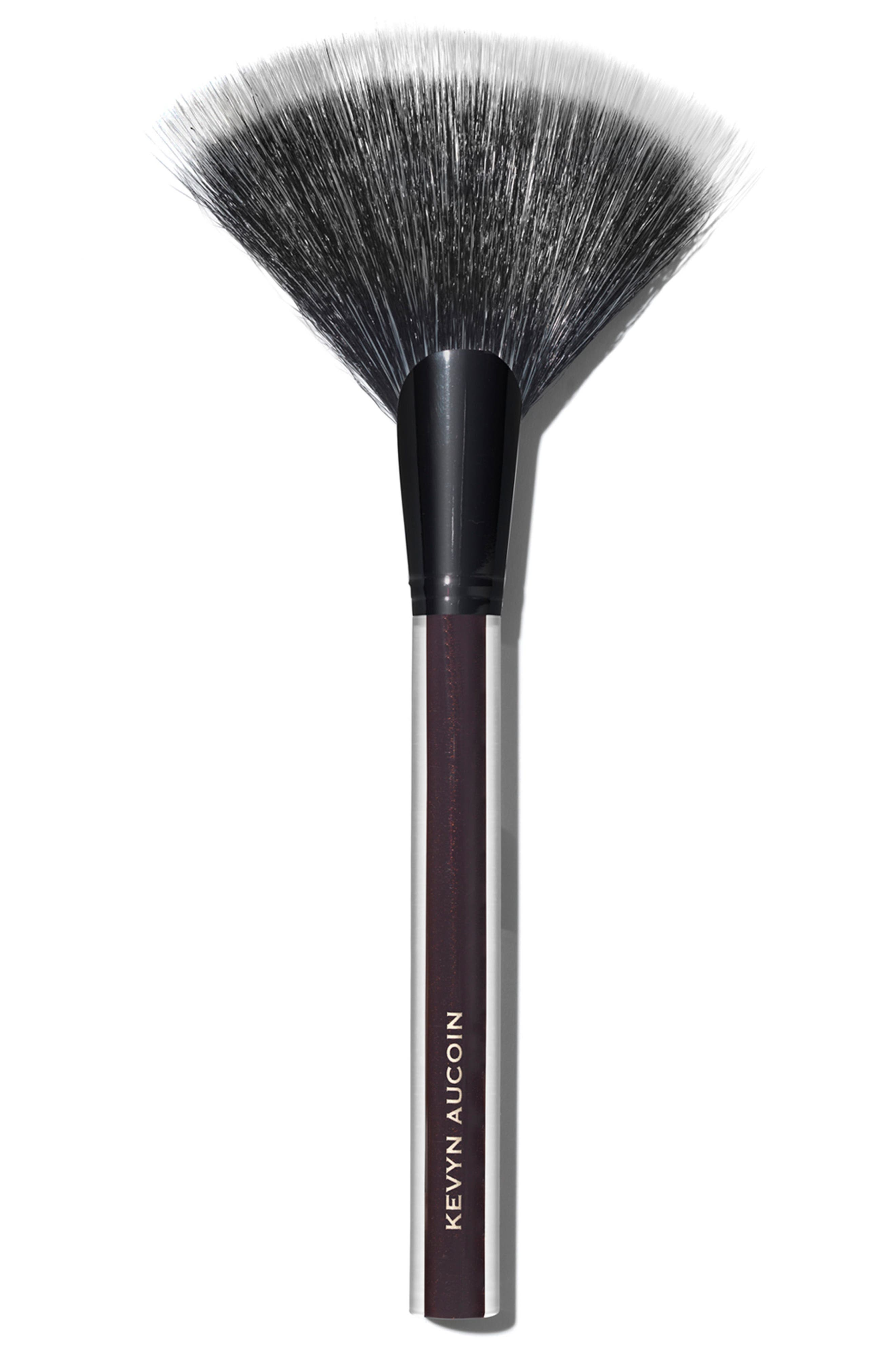 SPACE.NK.apothecary Kevyn Aucoin Beauty The Large Fan Brush,                             Main thumbnail 1, color,                             NO COLOR