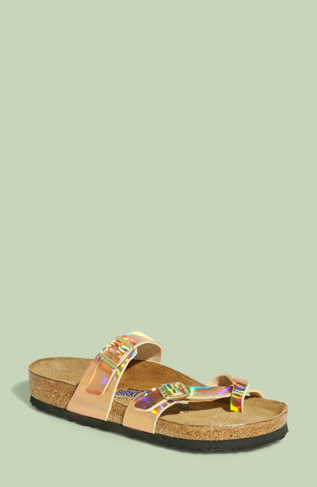 BIRKENSTOCK,                             'Mayari' Birko-Flor<sup>™</sup> Soft Footbed Sandal,                             Main thumbnail 1, color,                             750
