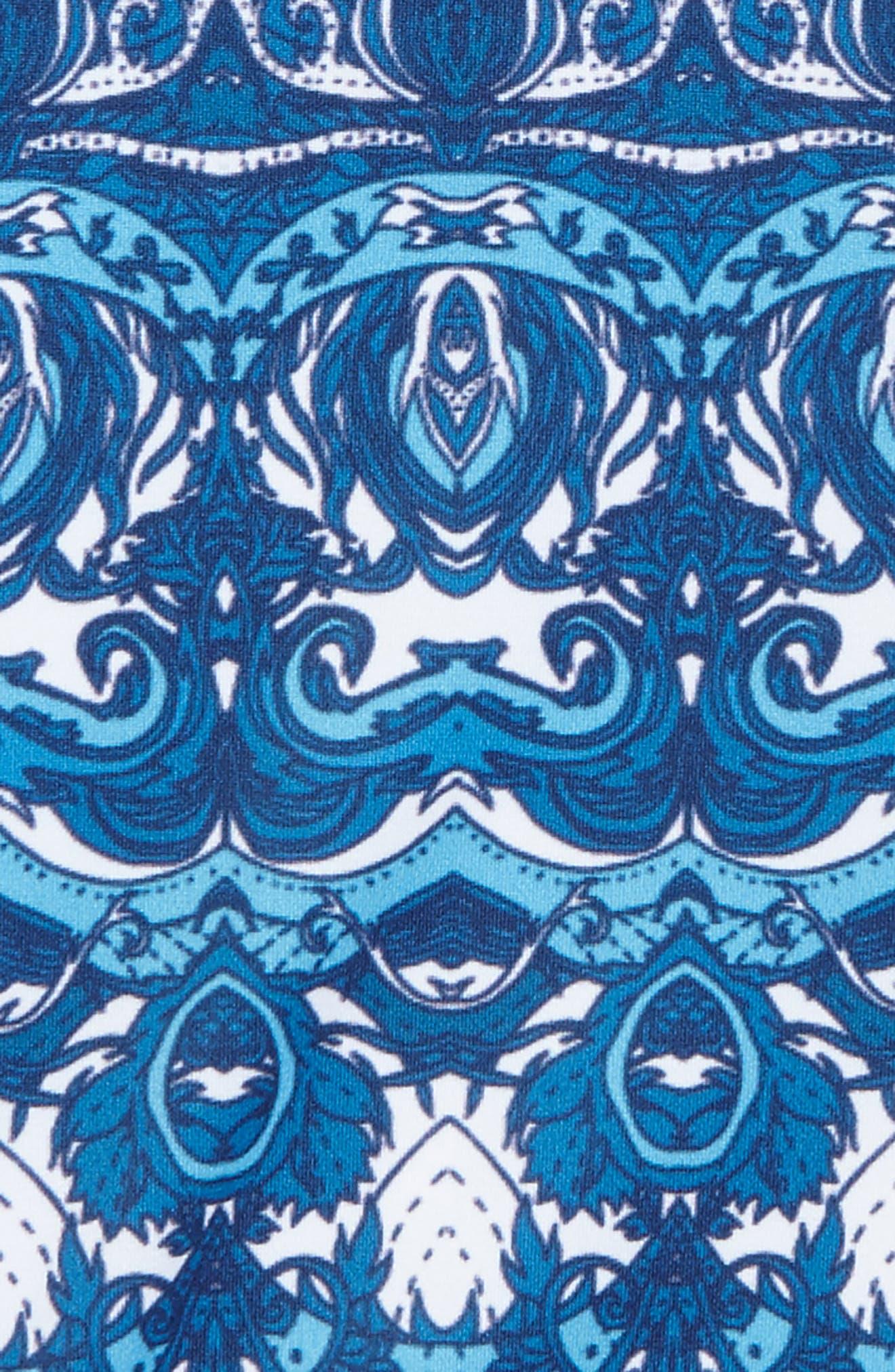 Asymmetrical Ruffle One-Piece Swimsuit,                             Alternate thumbnail 9, color,
