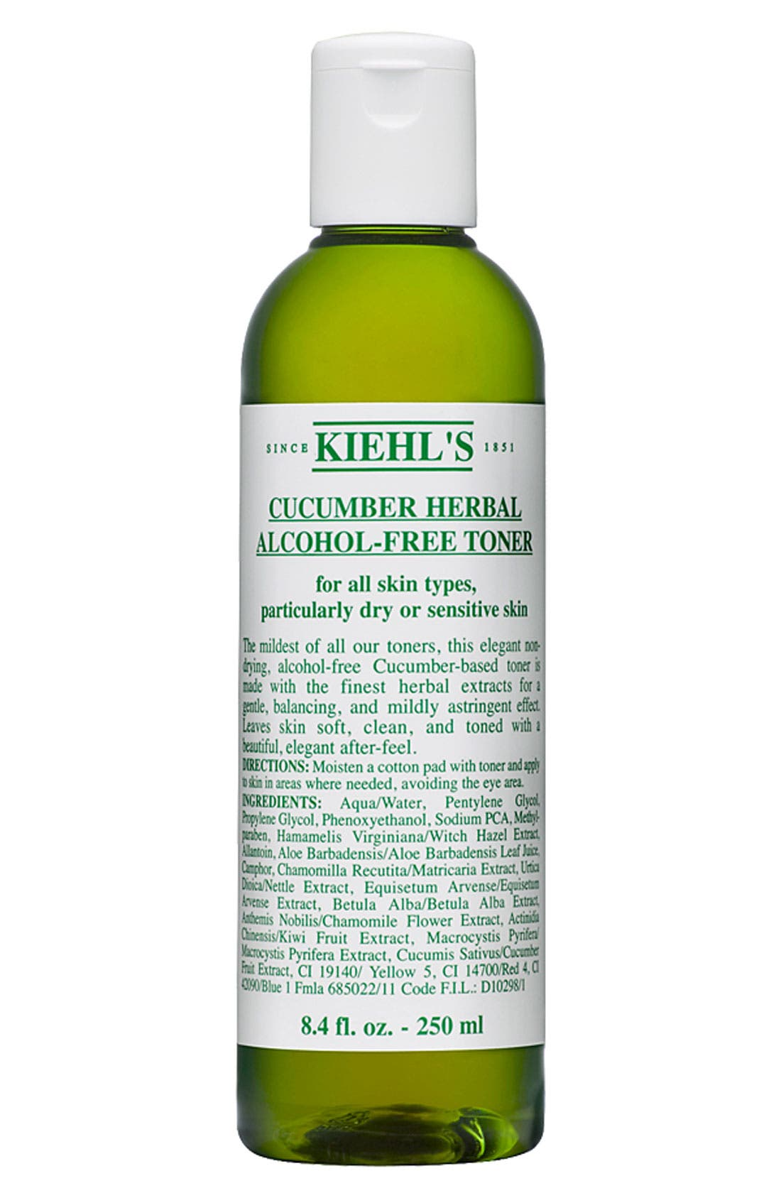 Cucumber Herbal Alcohol-Free Toner,                             Main thumbnail 1, color,                             NO COLOR