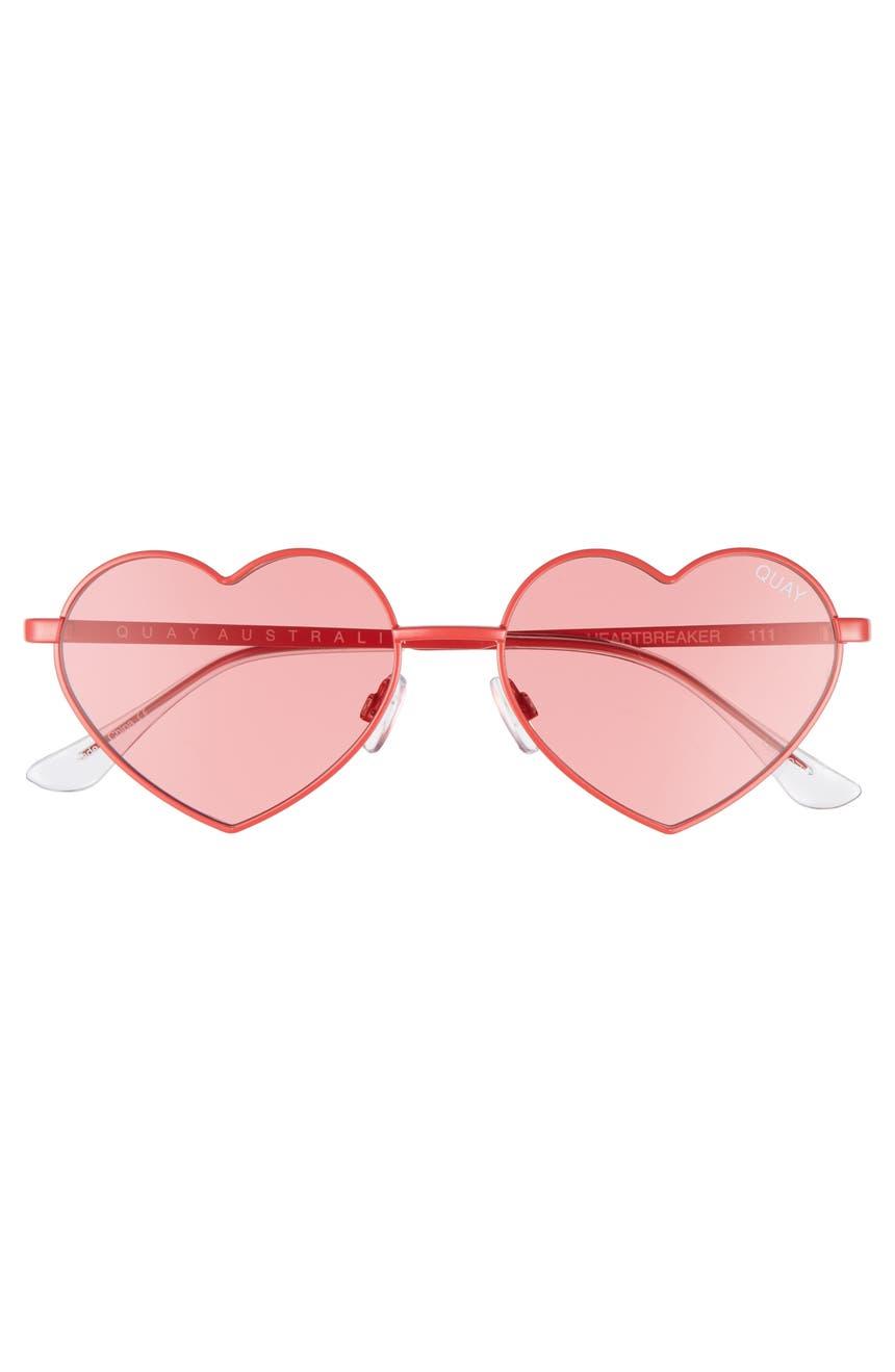 dcd1f7676de Quay Australia 53mm Heart Breaker Heart-Shaped Sunglasses