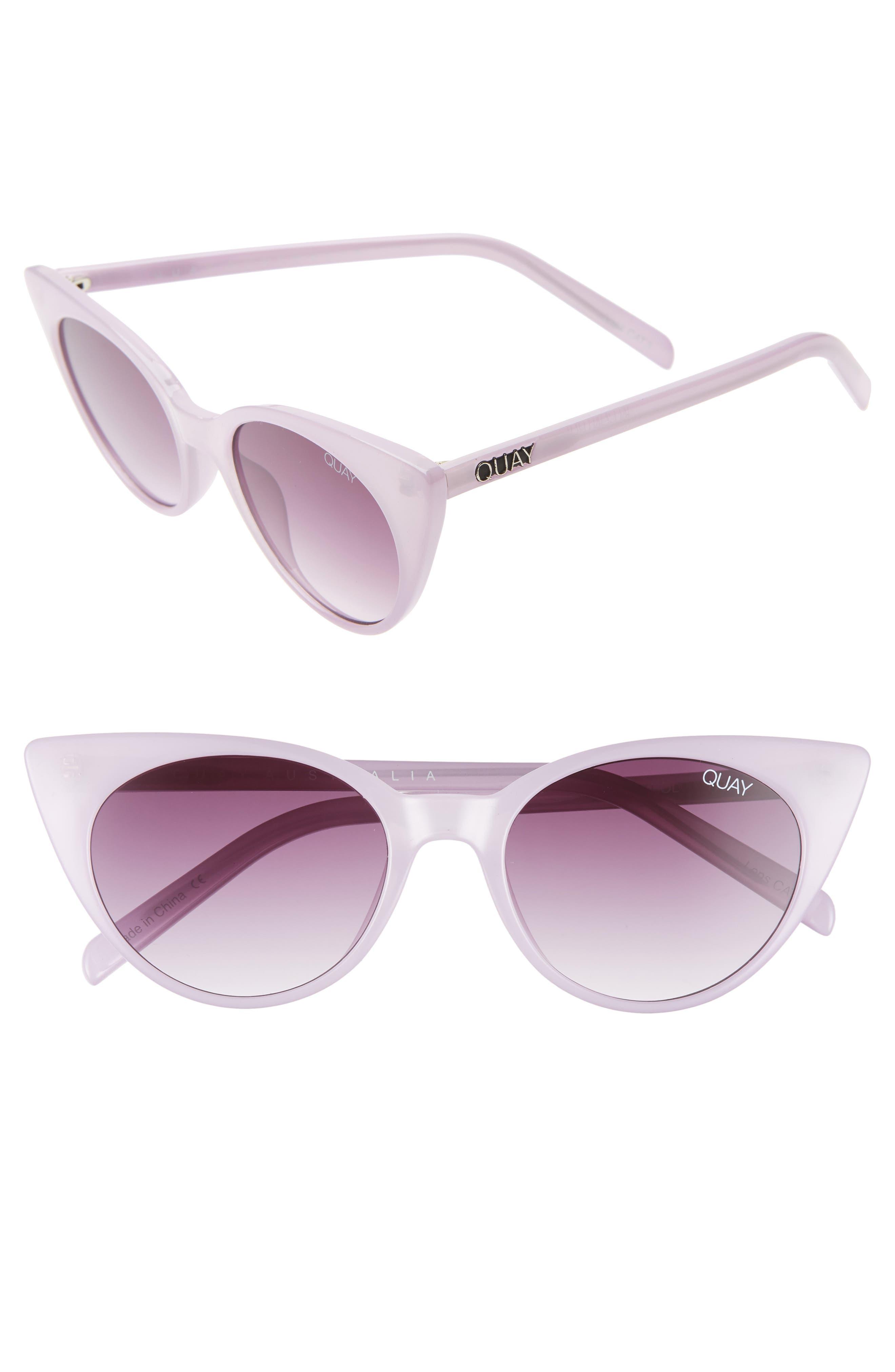 Quay Australia Aphrodite 5m Cat Eye Sunglasses - Violet/ Purple Fade