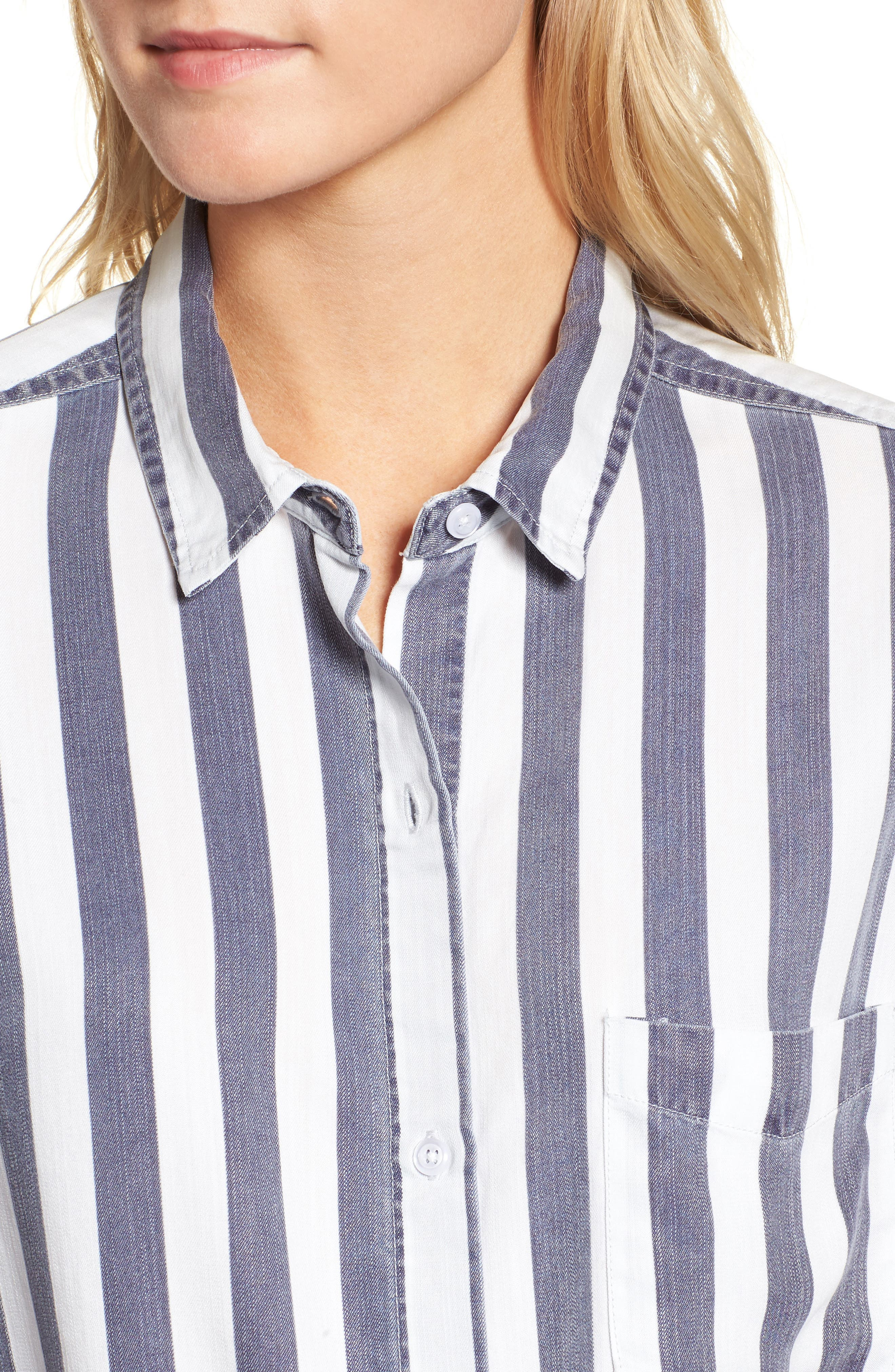 Val Stripe Tie Front Top,                             Alternate thumbnail 4, color,                             400