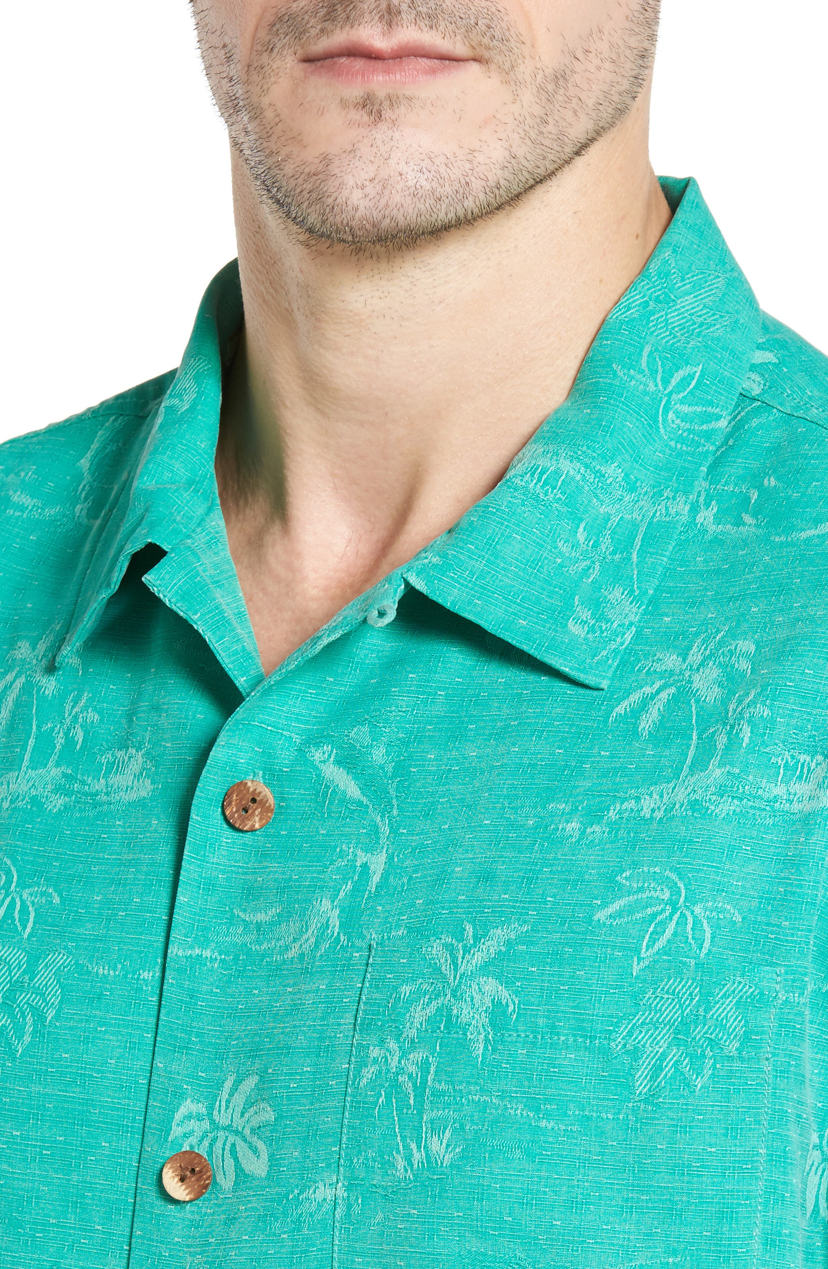 Gulf Shore Marlin Silk Camp Shirt,                             Alternate thumbnail 17, color,
