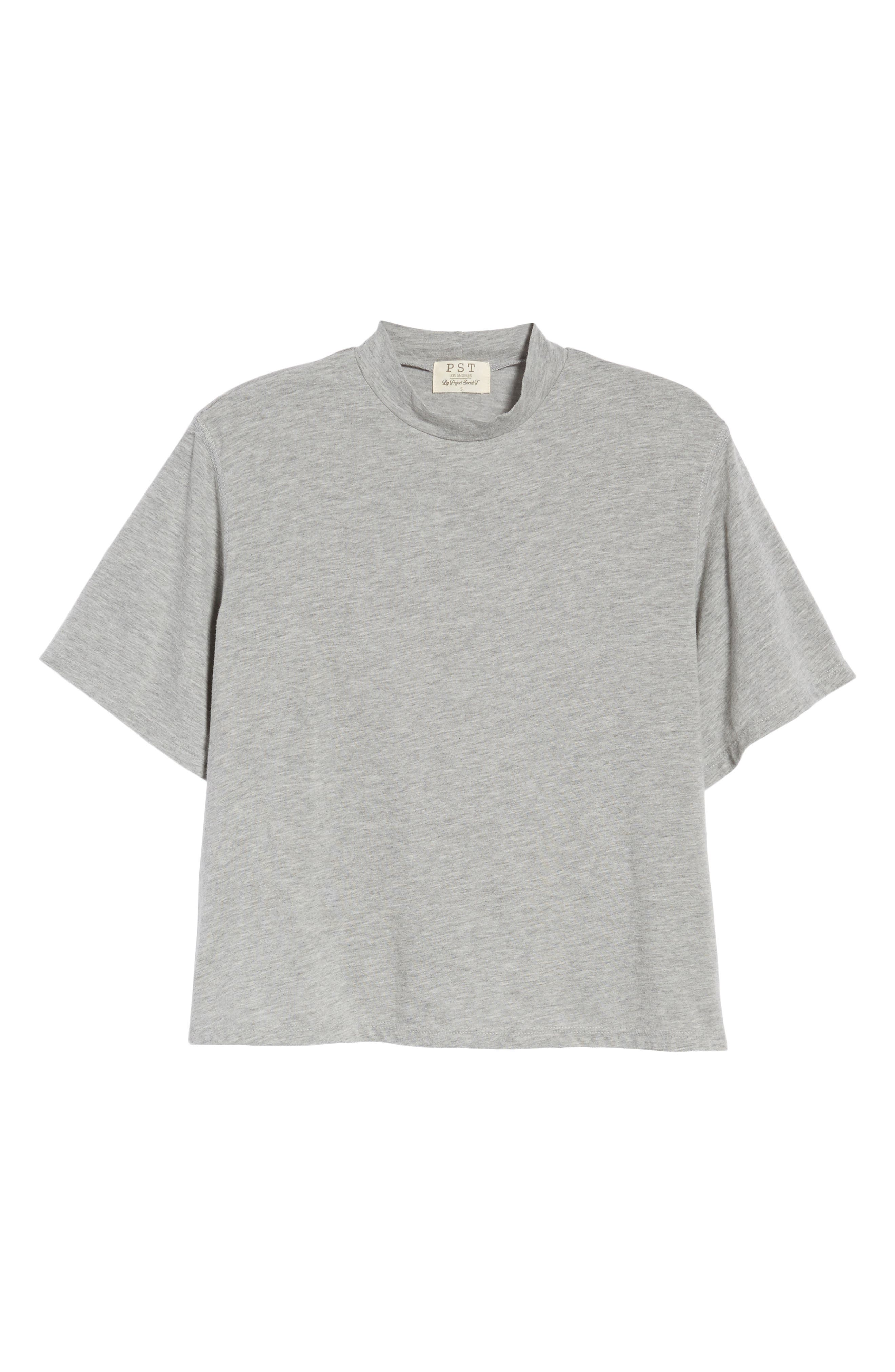 Mock Neck Tee,                             Alternate thumbnail 7, color,