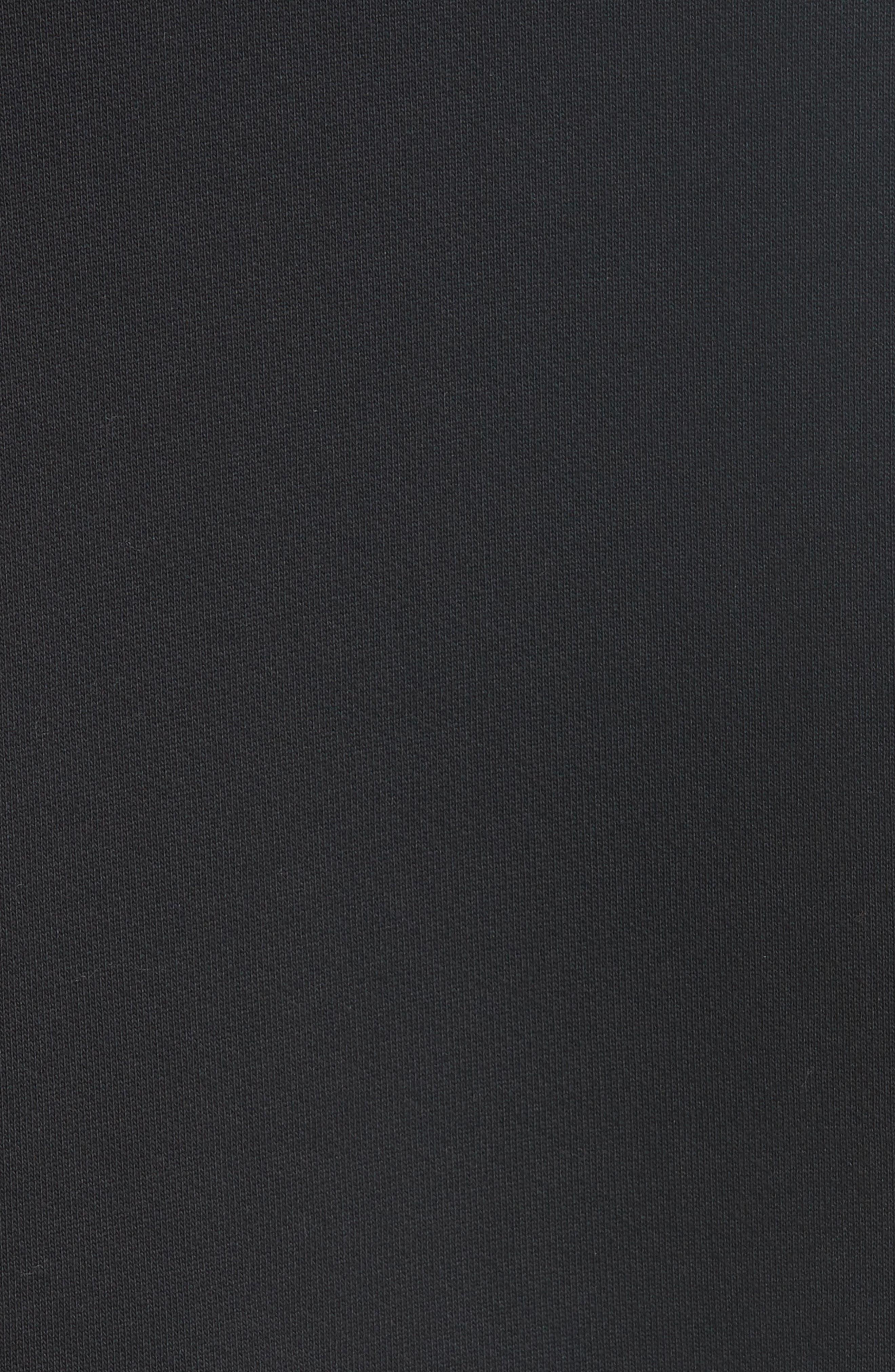 Foulard Sleeve Crewneck Sweatshirt,                             Alternate thumbnail 6, color,                             001