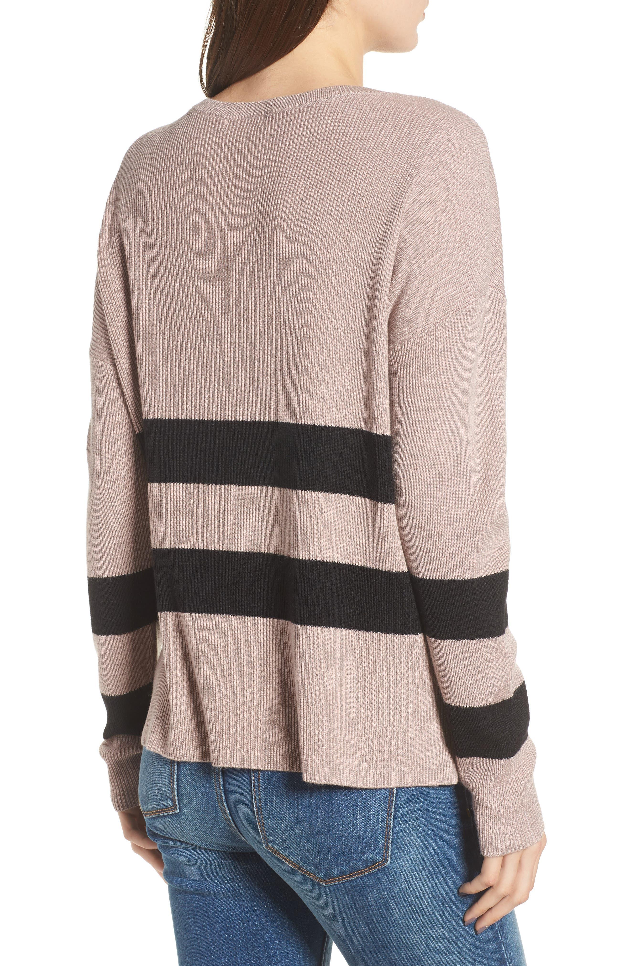 Varsity Stripe Sweater,                             Alternate thumbnail 2, color,                             030