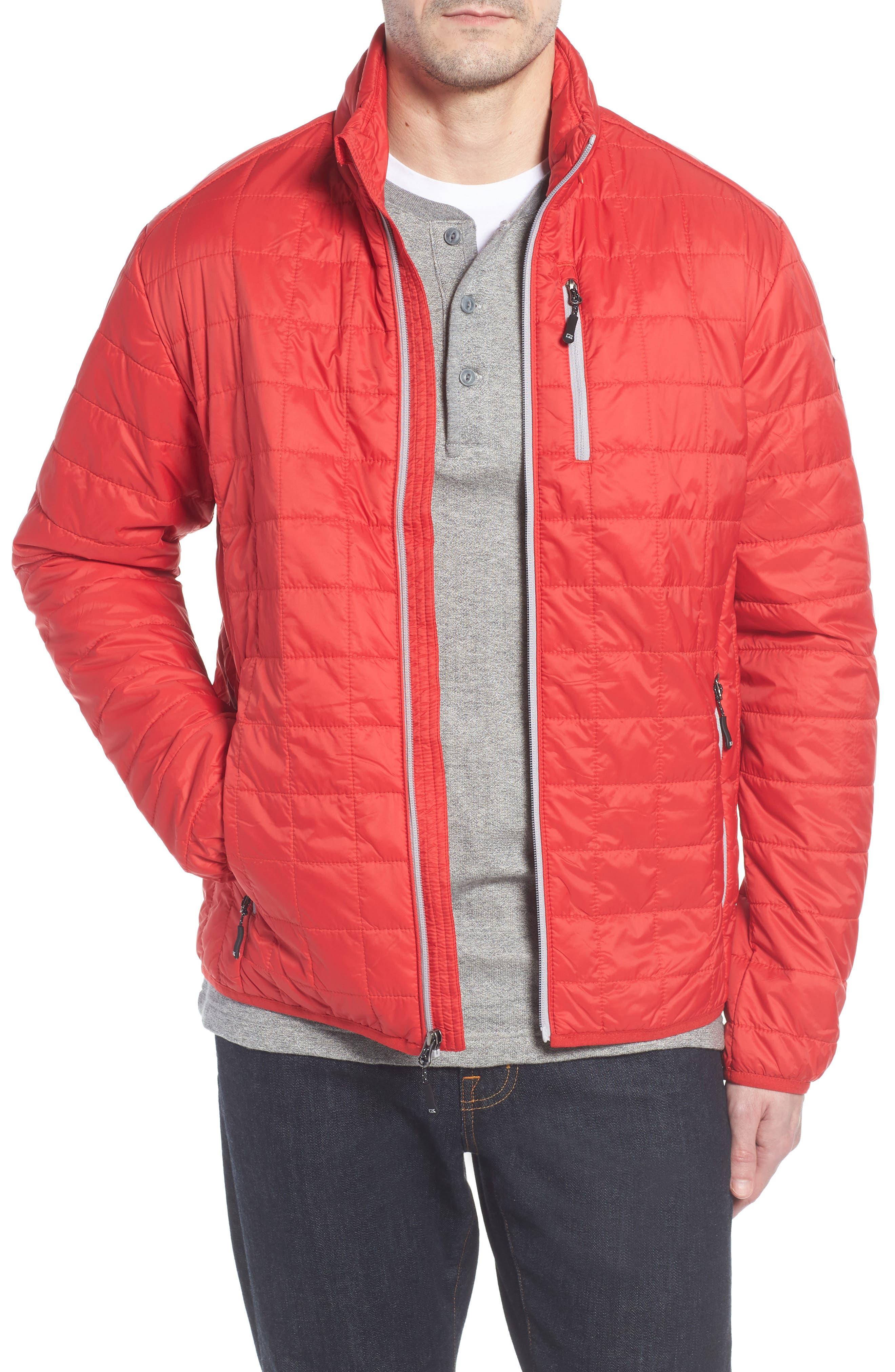 Big & Tall Cutter & Buck Rainier Primaloft Insulated Jacket, Red