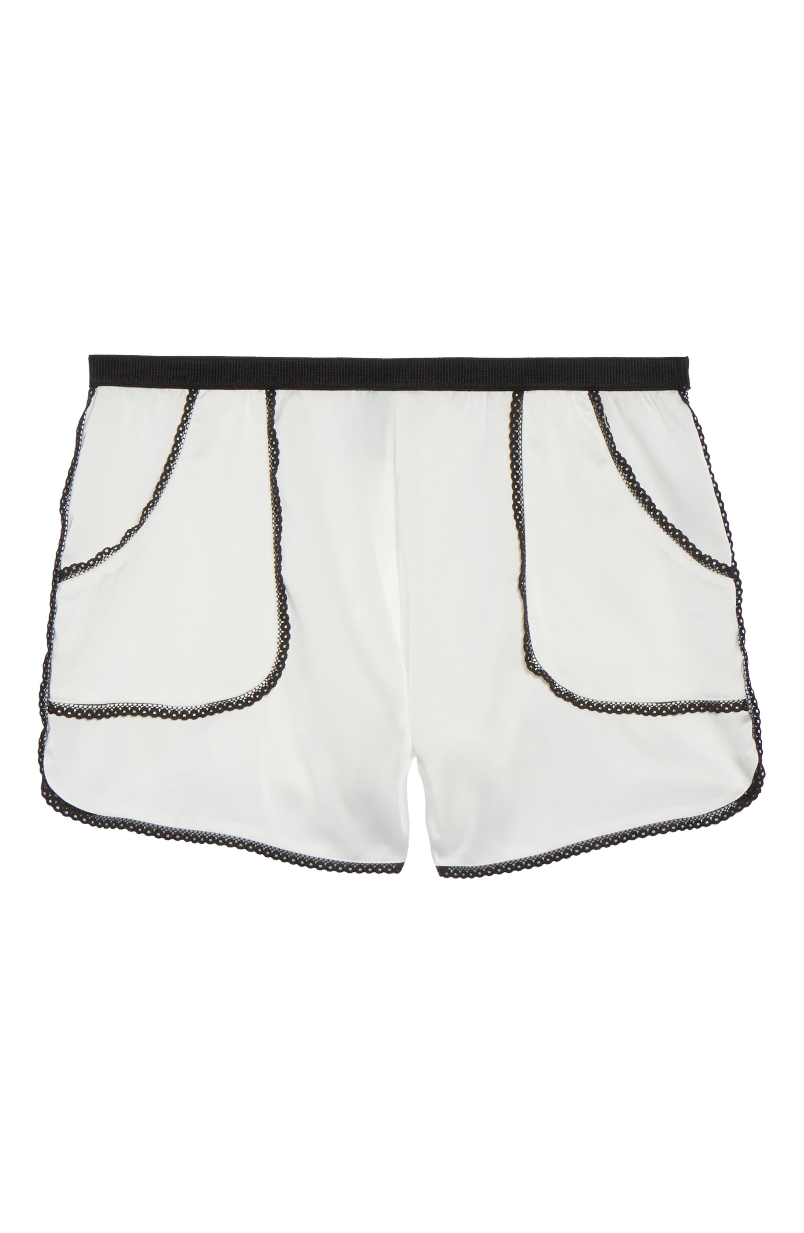 Thistle & Spire Devoe Satin Pajama Shorts,                             Alternate thumbnail 5, color,                             900