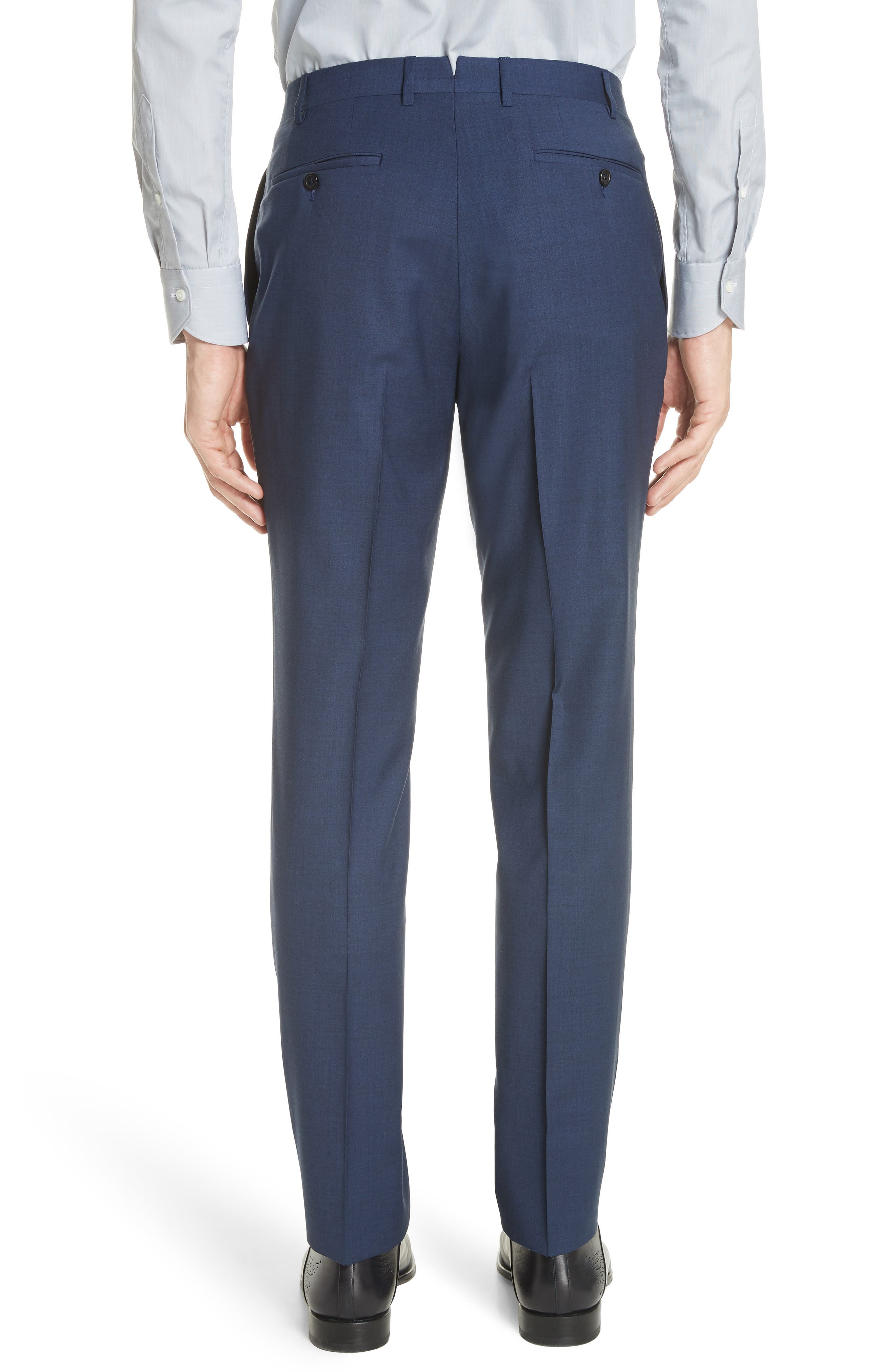 Kei Flat Front Solid Wool Trousers,                             Alternate thumbnail 5, color,