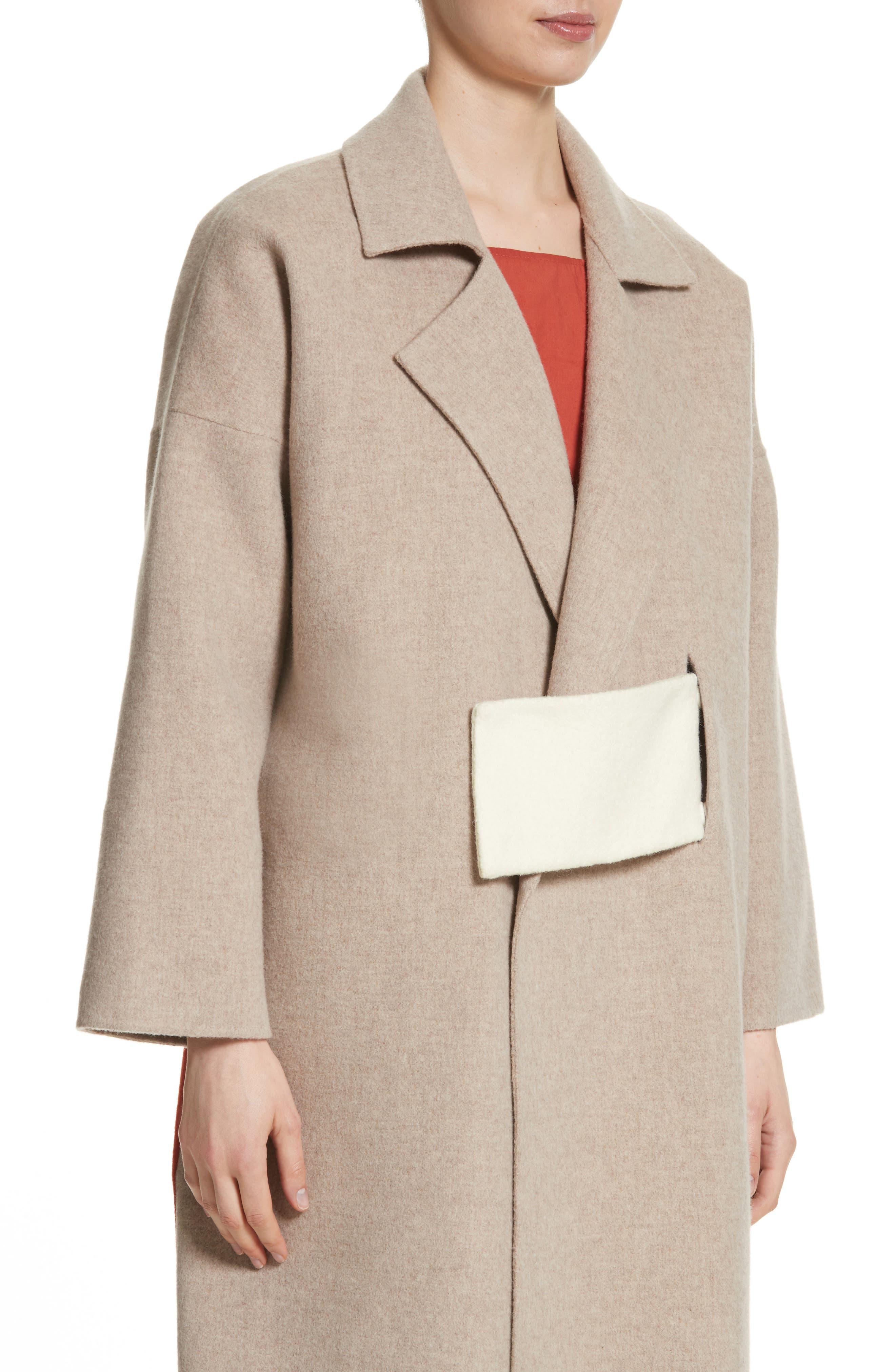 Kate Oversize Belted Coat,                             Alternate thumbnail 4, color,                             260