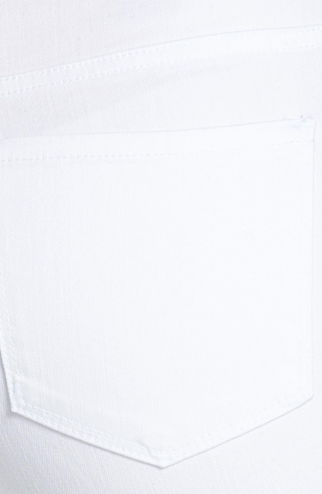 'Devin' Embellished Hem Stretch Crop Jeans,                             Alternate thumbnail 2, color,                             103