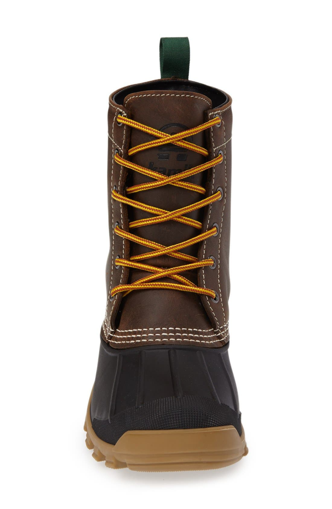 Yukon6 Waterproof Work Boot,                             Alternate thumbnail 3, color,                             DARK BROWN LEATHER