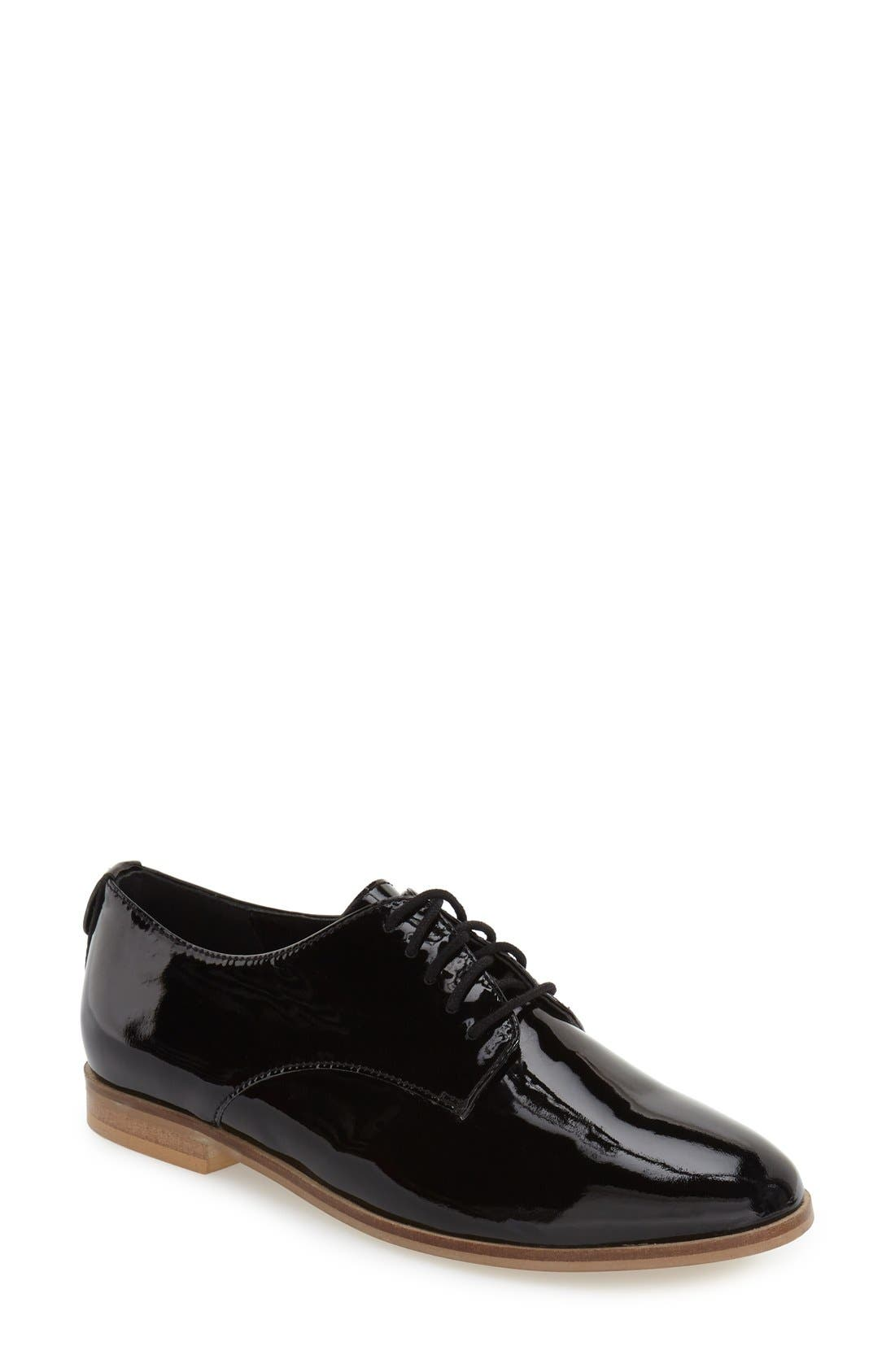 'Flossy' Patent Leather Oxford,                         Main,                         color, 005