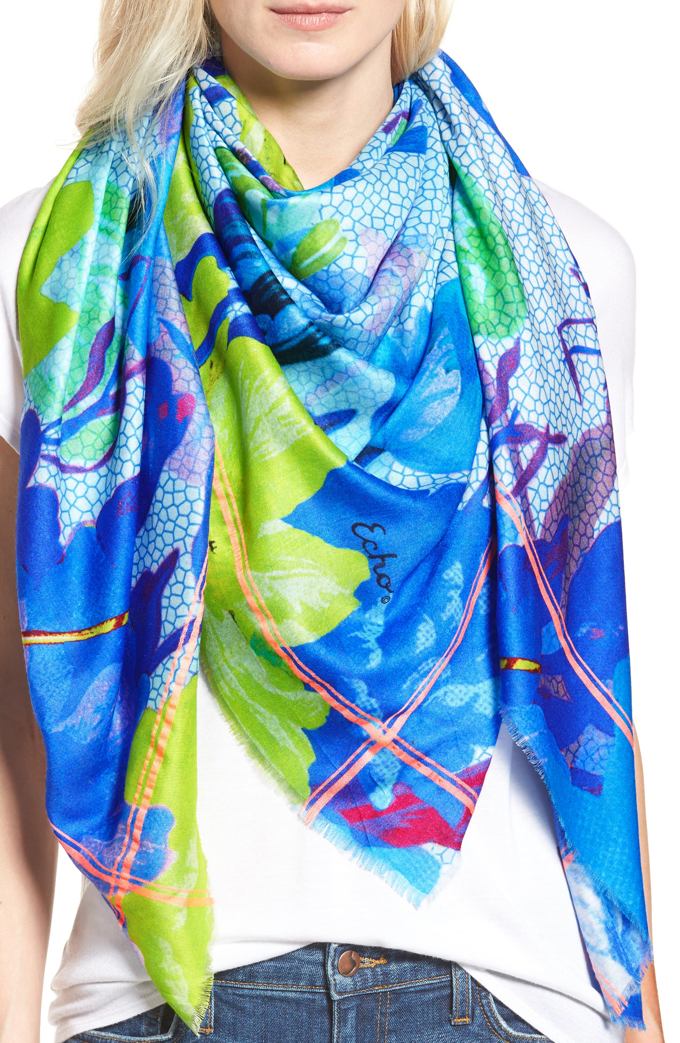 Botanica Square Scarf,                             Main thumbnail 1, color,                             400