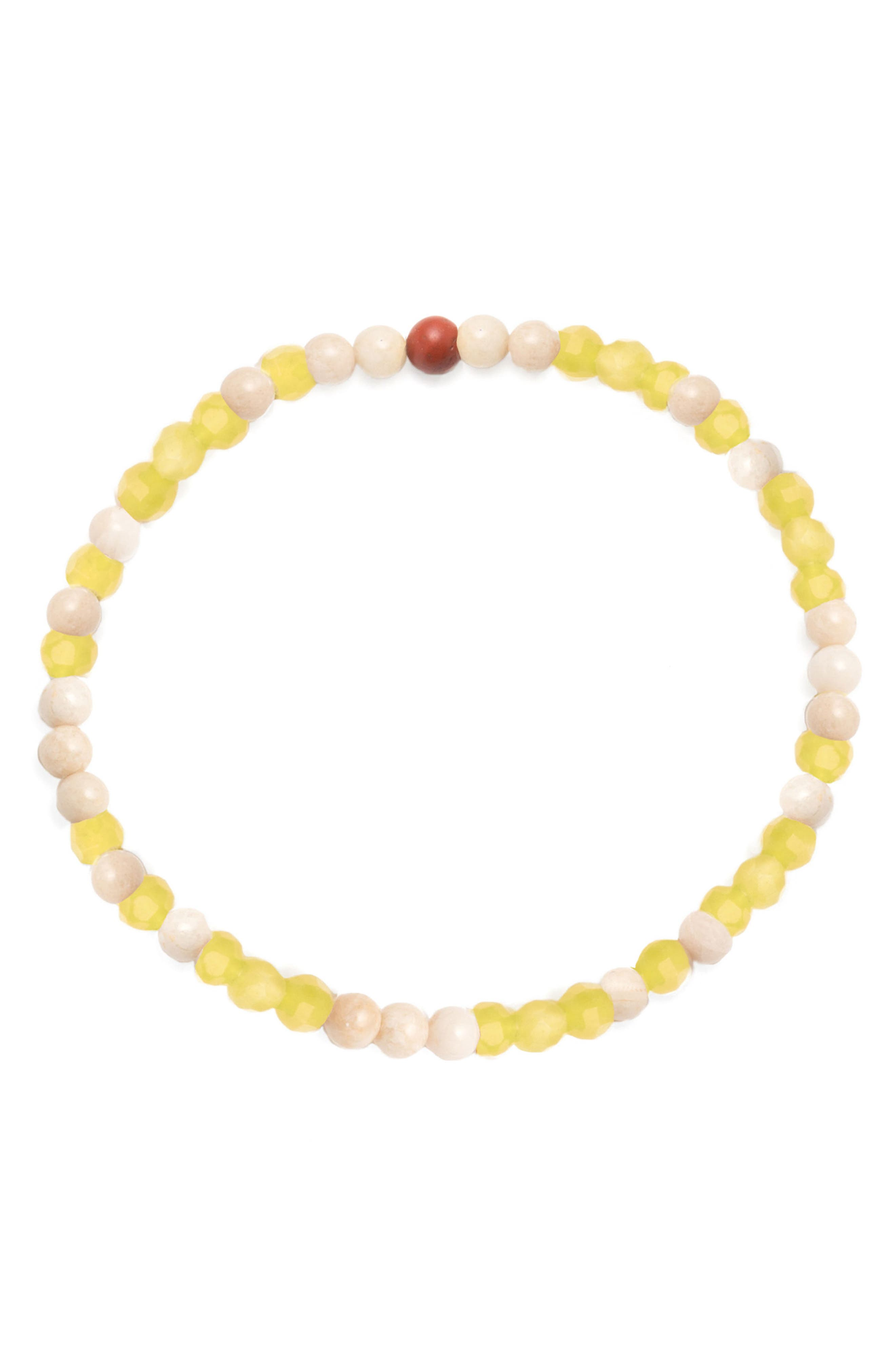 GEORGE FROST,                             Luck Morse Bracelet,                             Main thumbnail 1, color,                             YELLOW / WHITE